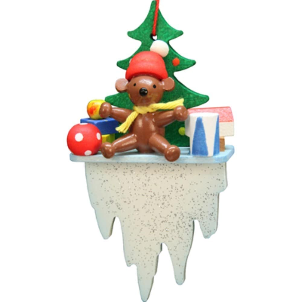 Christian Ulbricht Holiday Christmas Home Teddy Bear On Icicle ...