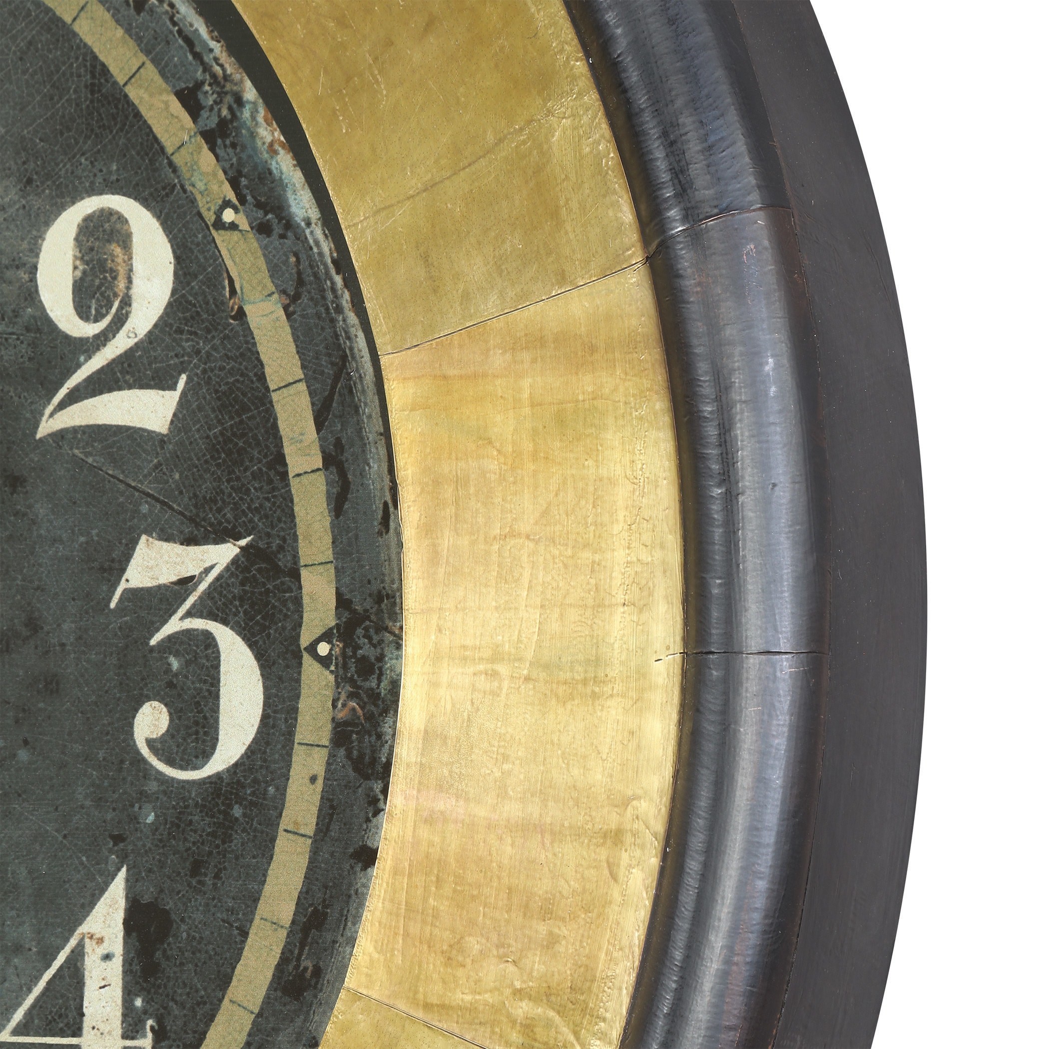 Shop Uttermost Lannaster Black and Gold Wall Clock - Free Shipping ...