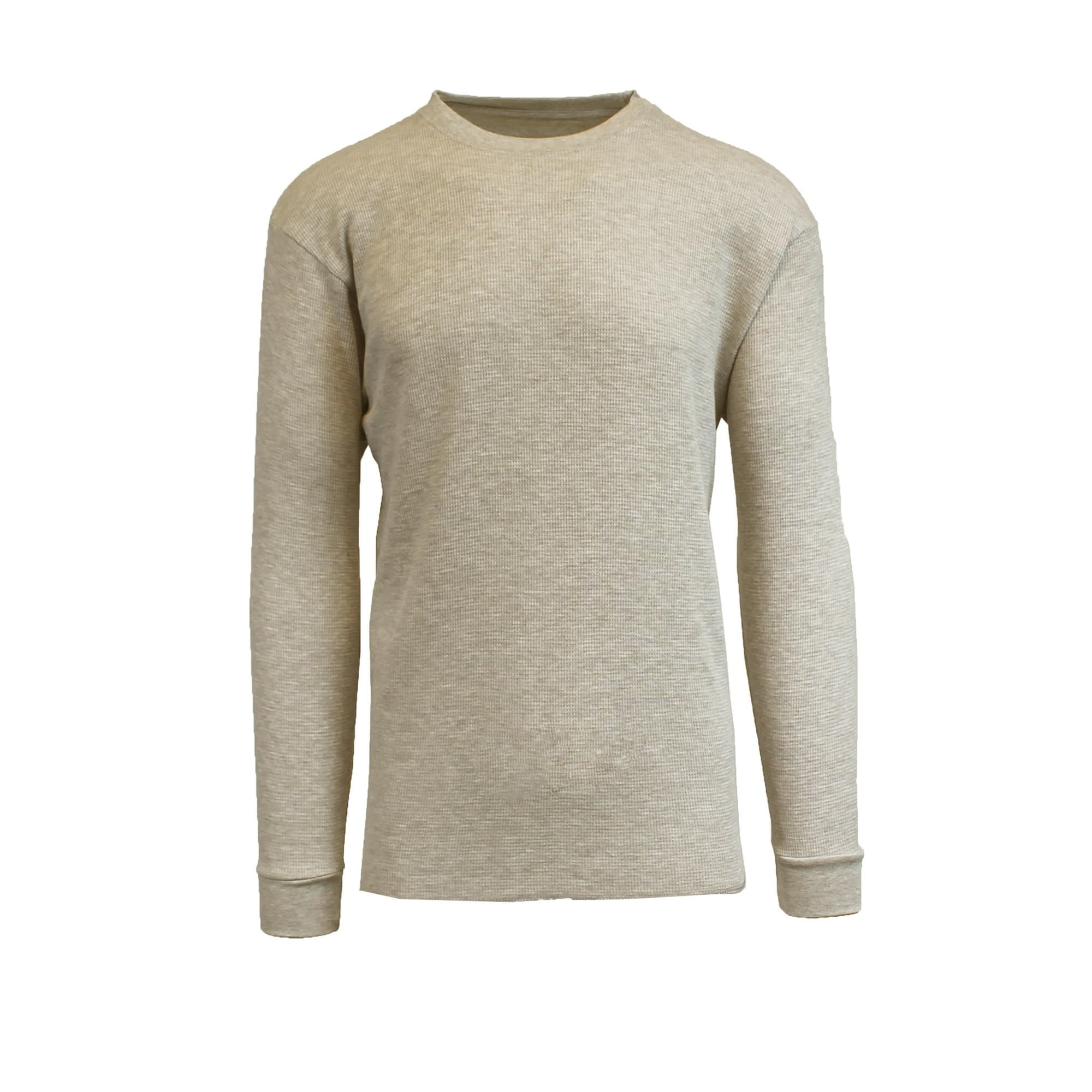 df601c224338 Shop Galaxy By Harvic Men s Long Sleeve Crew Neck Thermal Waffle Shirts -  On Sale - Free Shipping On Orders Over  45 - Overstock - 19400642