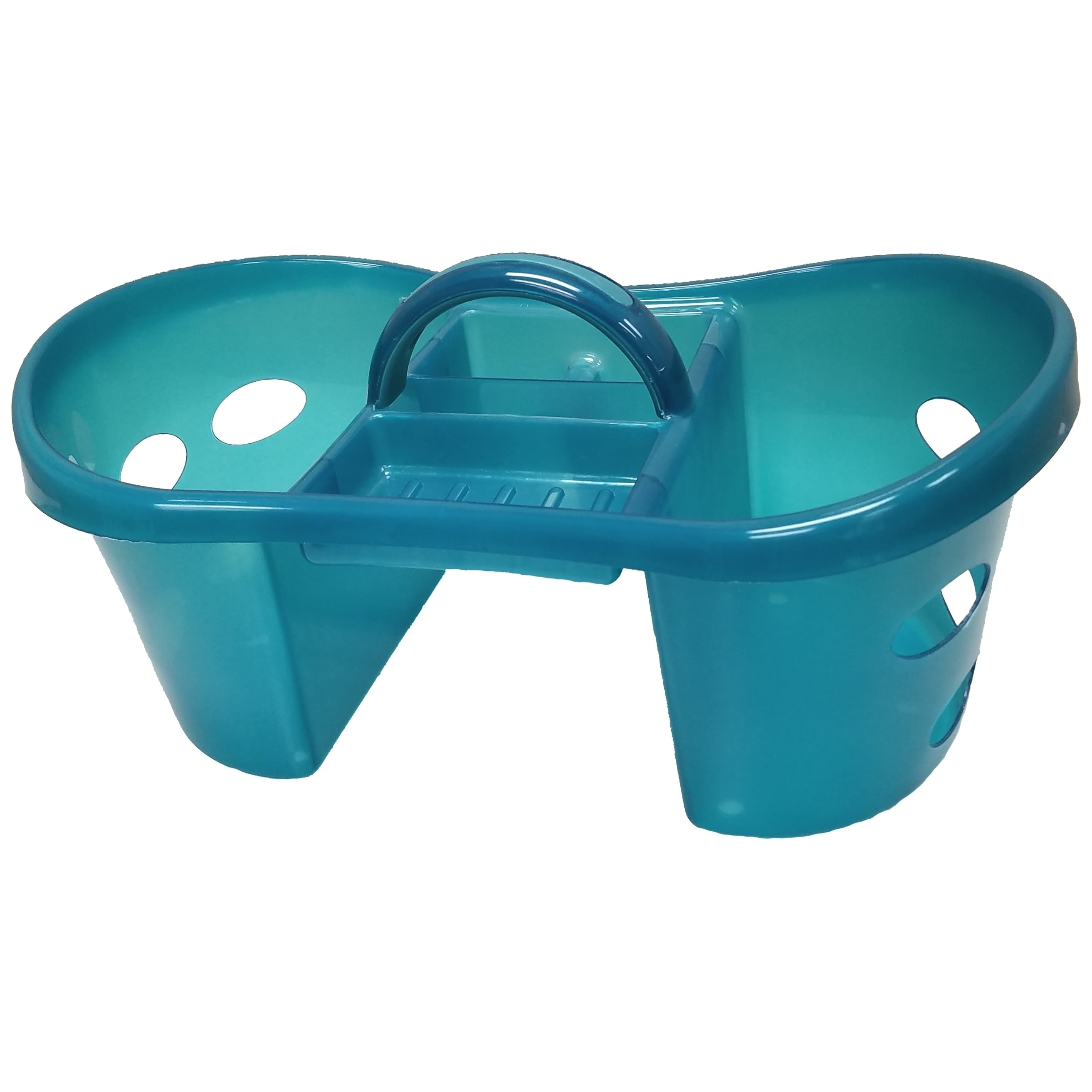 Shop Turquoise Plastic Shower/ Cleaning Caddy Tote - Free Shipping ...