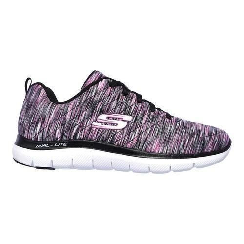 45d93958a7e8 Shop Women s Skechers Flex Appeal 2.0 Reflections Sneaker Black Multi -  Free Shipping Today - Overstock - 19408498