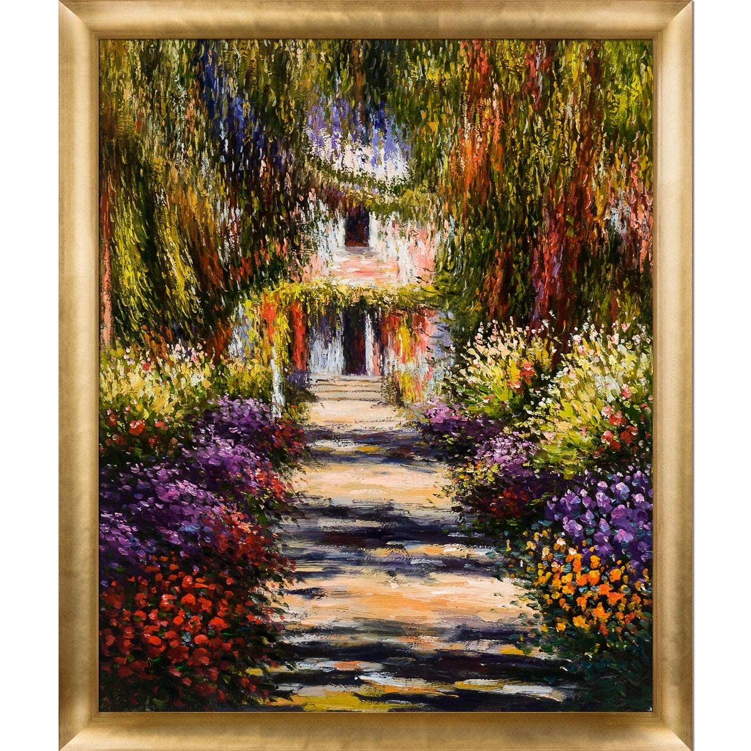 Shop Claude Monet \'Garden Path at Giverny\' Hand Painted Oil ...