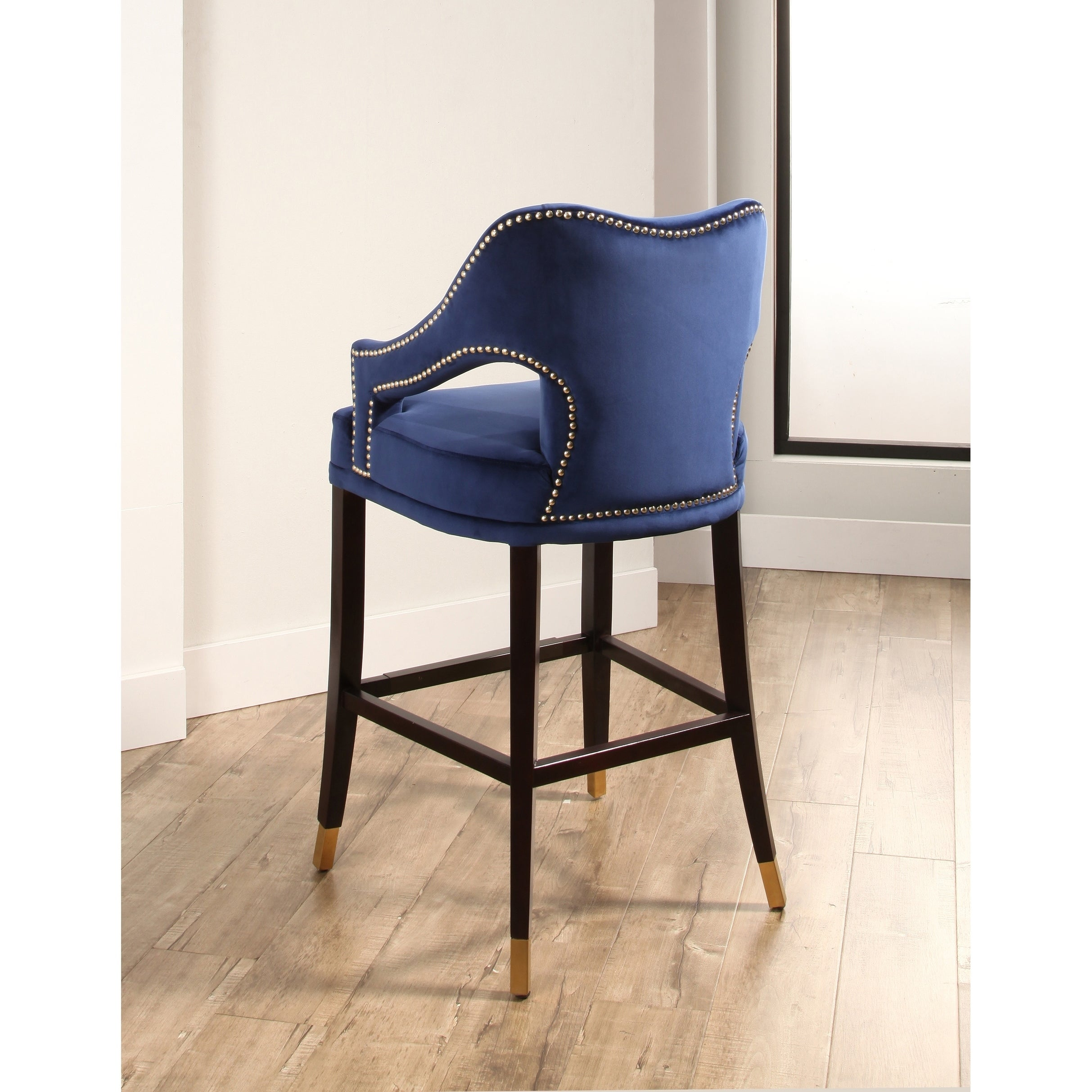 Abbyson Darcy Curved Back Velvet Bar Stool Free Shipping Today
