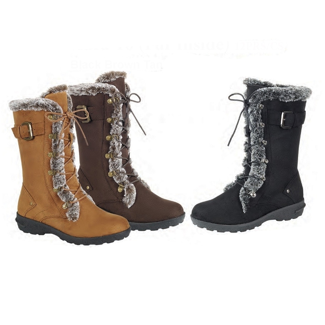 6dce5fdac Shop Forever Women's Lace Up Side Zipper Buckle Mid Calf Winter Snow Boots  - Free Shipping On Orders Over $45 - Overstock - 19422090