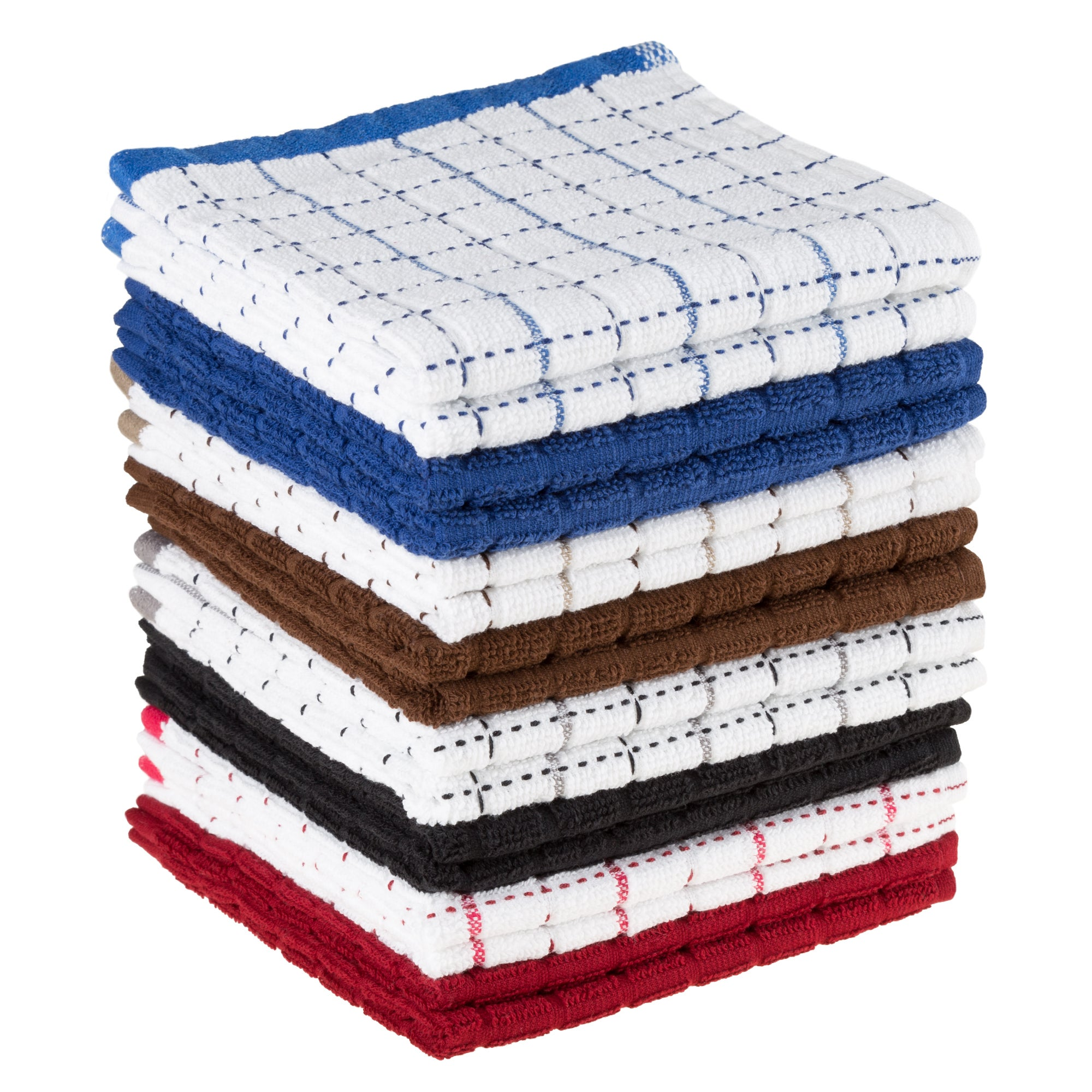Dish Cloths Pack, Set of 16 Kitchen Wash Towels, Cleaning/Drying by ...
