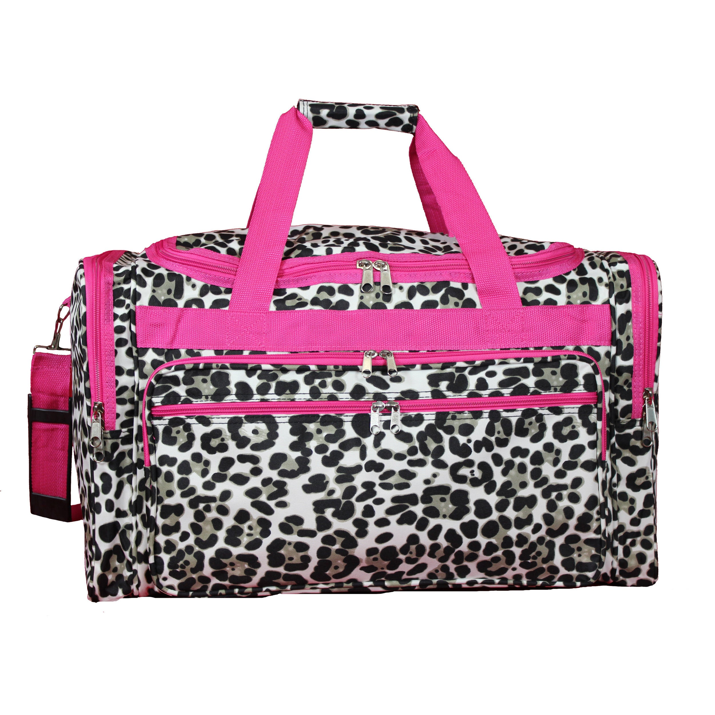 5f74fa588cc6 Shop World Traveler Pink Trim Cheetah 22-inch Lightweight Duffle Bag - Free  Shipping On Orders Over  45 - Overstock - 19429717