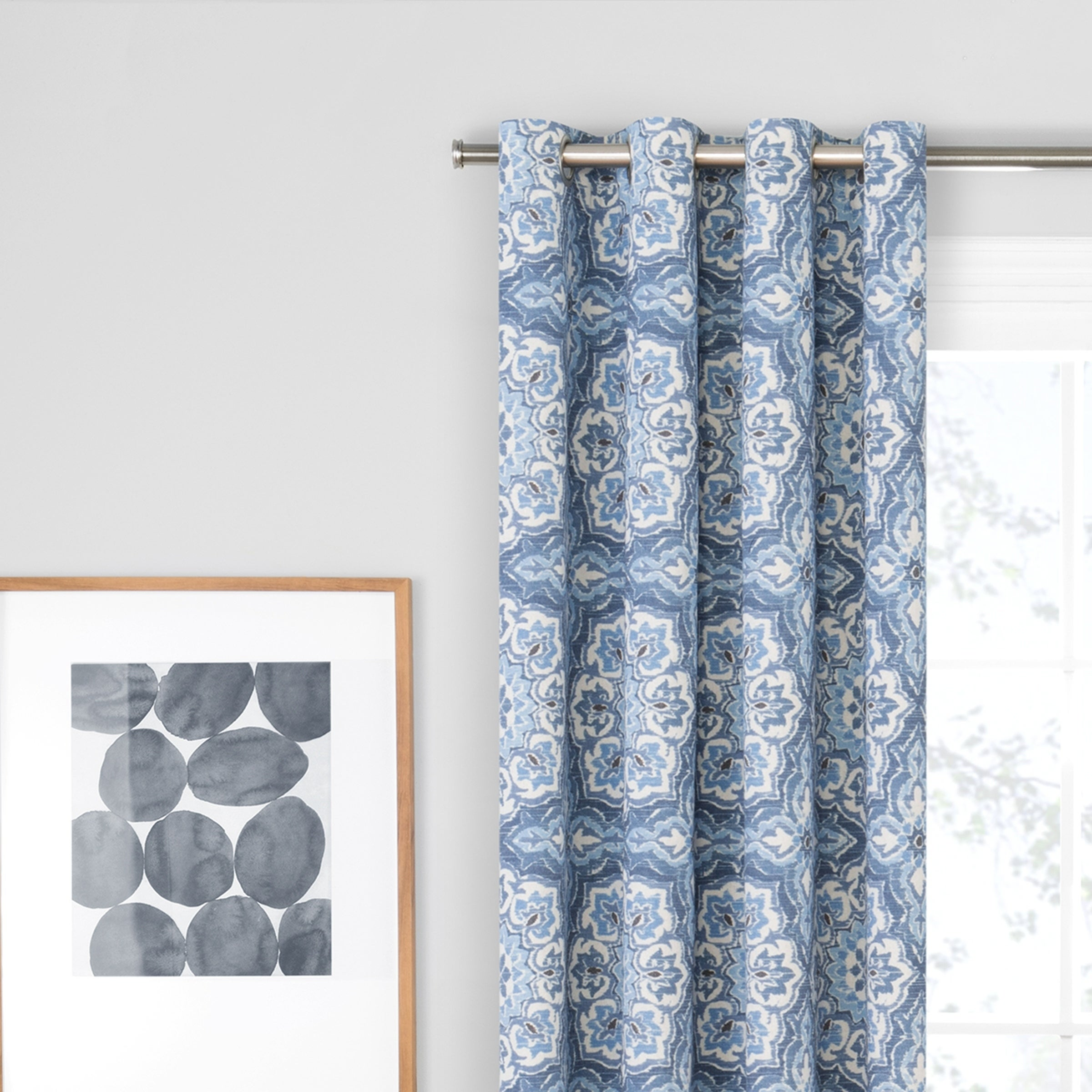 pair curtains lush products lushdecor com edward trellis navy decor blue curtain window set darkening room
