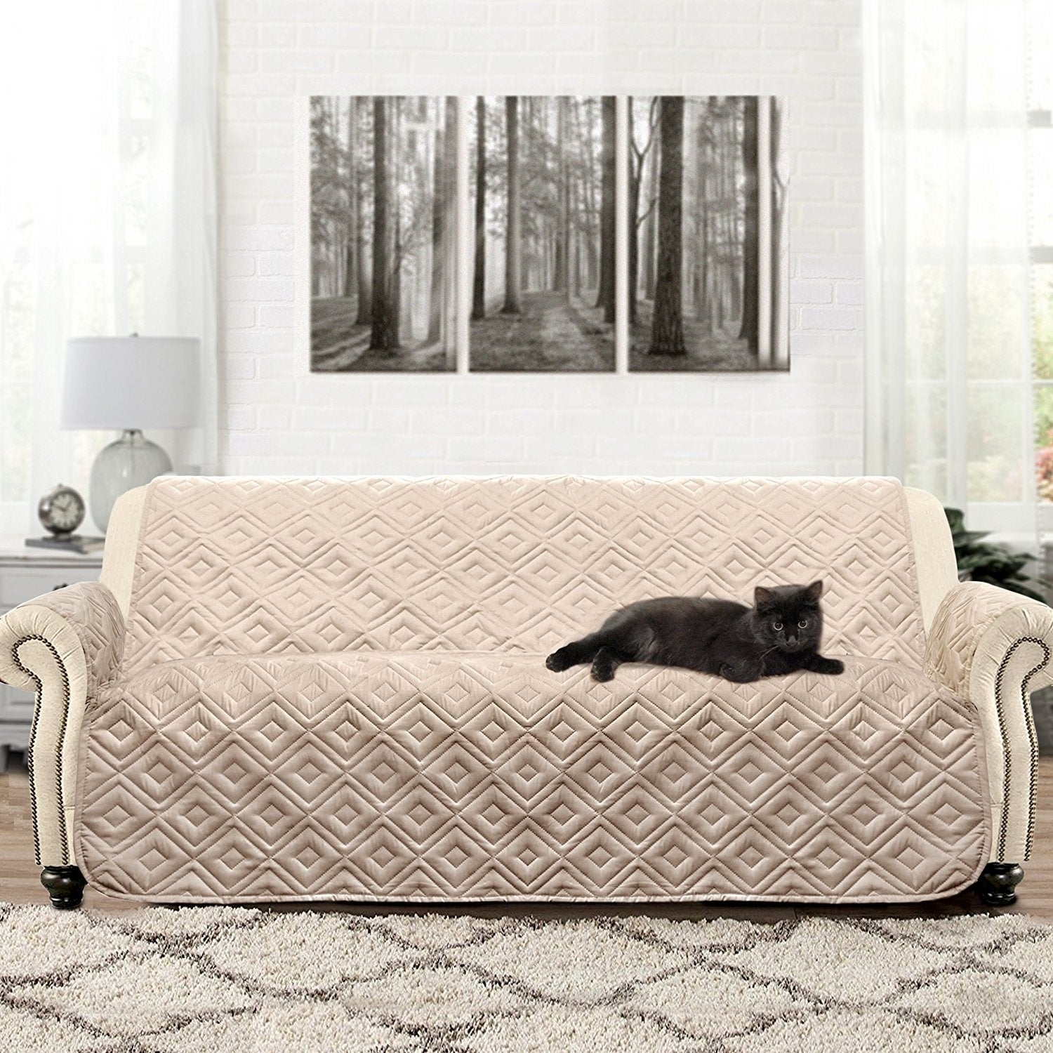 Nice DriftAway Waterproof Quilted Sofa Protector For Kids, Pets   Free Shipping  On Orders Over $45   Overstock   25434580