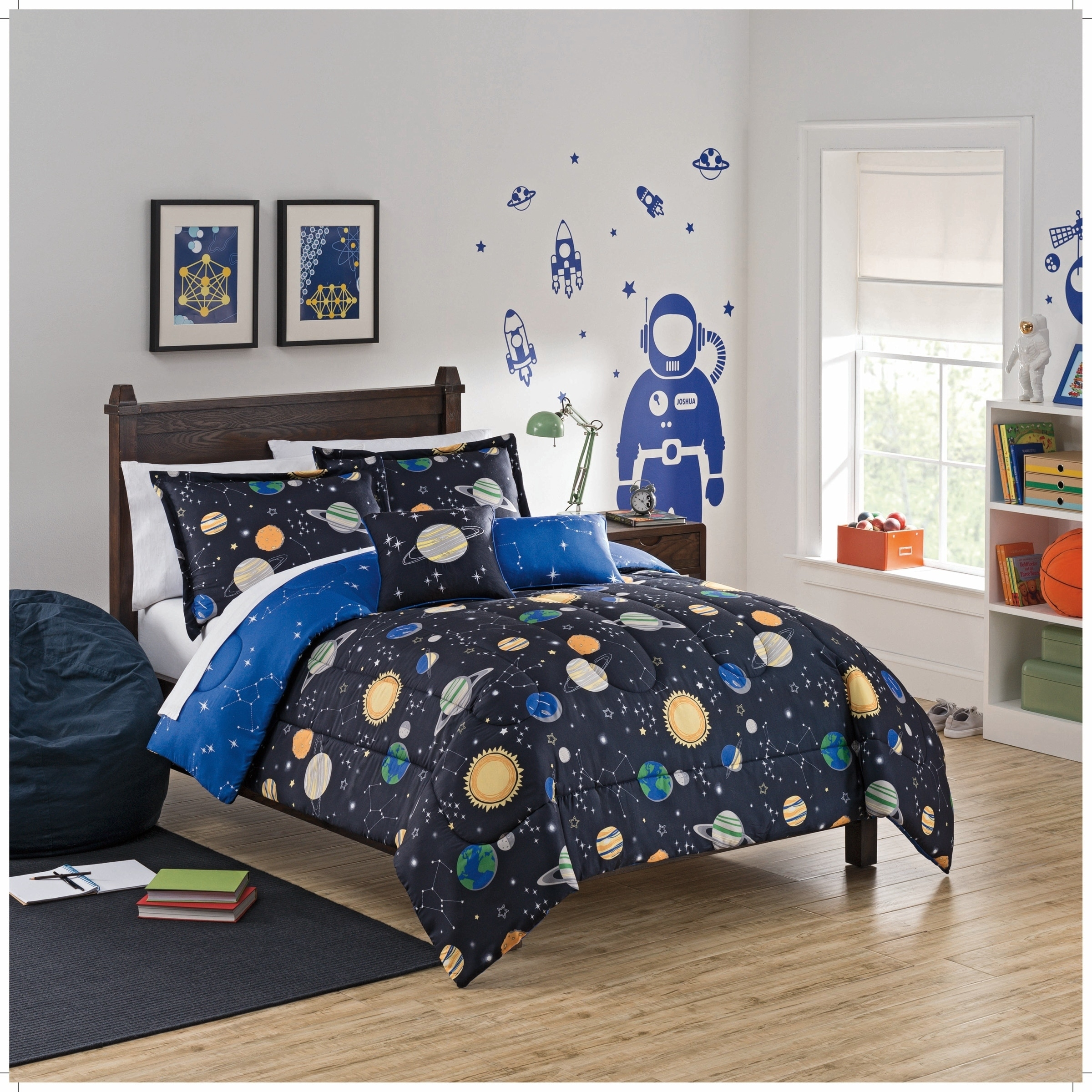 shop waverly kids space adventure reversible bedding collection free shipping today overstockcom 19430752 - Space Bedding