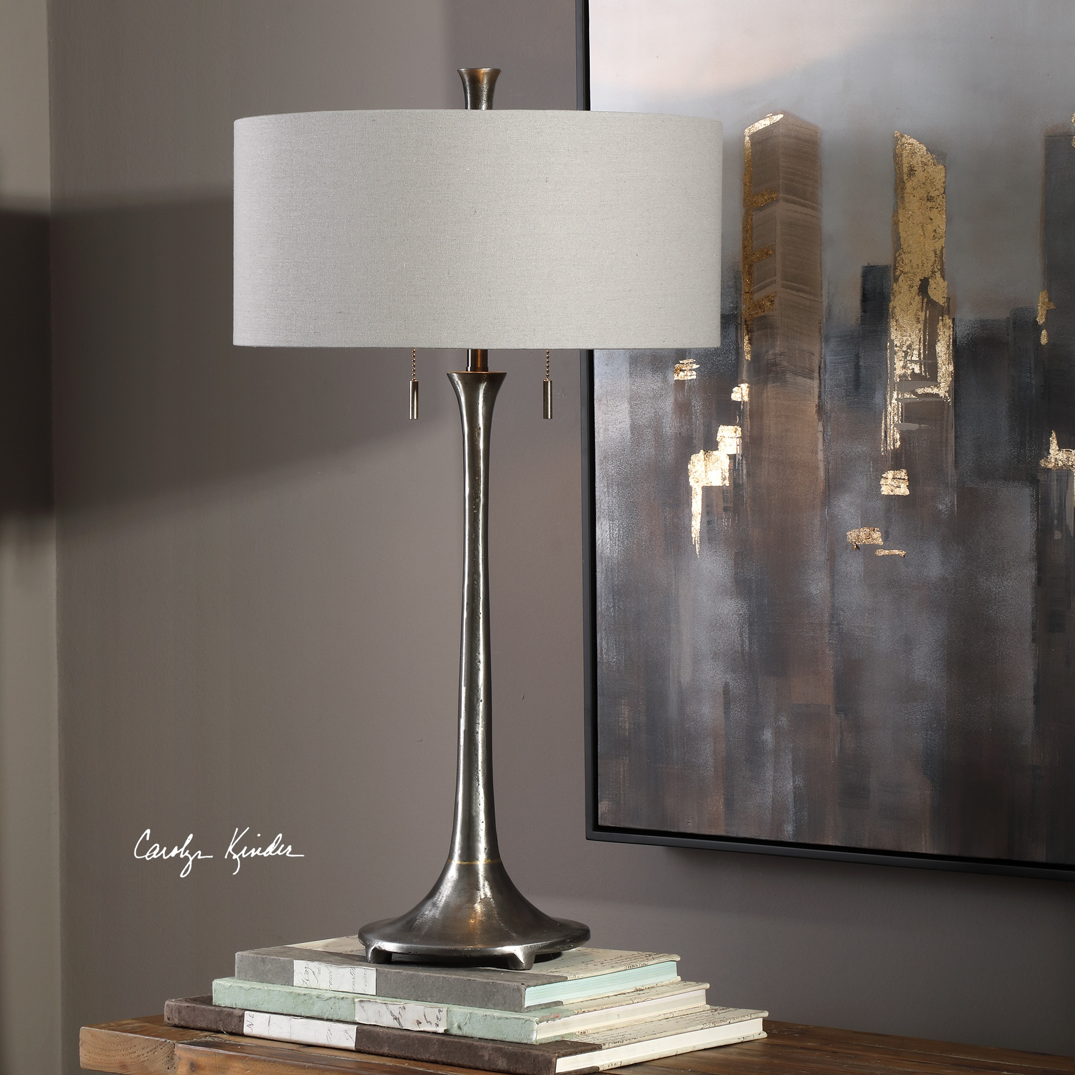 Shop Uttermost Aliso Natural Cast Iron Table Lamp Free Shipping