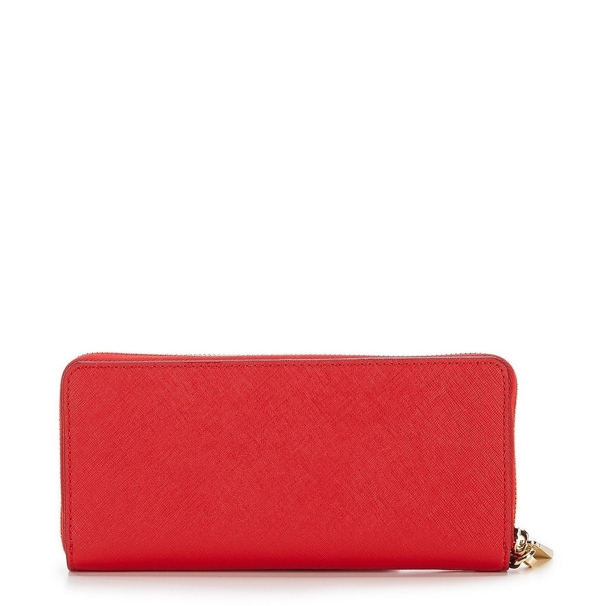 3b35757fb142 Shop MICHAEL Michael Kors Jet Set Travel Continental Wallet Bright Red Gold  hardware - Free Shipping Today - Overstock - 19435451