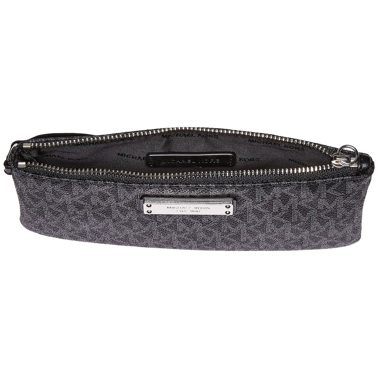 3b13b89beab5 Shop MICHAEL Michael Kors Jet Set Signature Medium Wristlet MK Logo Black -  Free Shipping Today - Overstock - 19435452