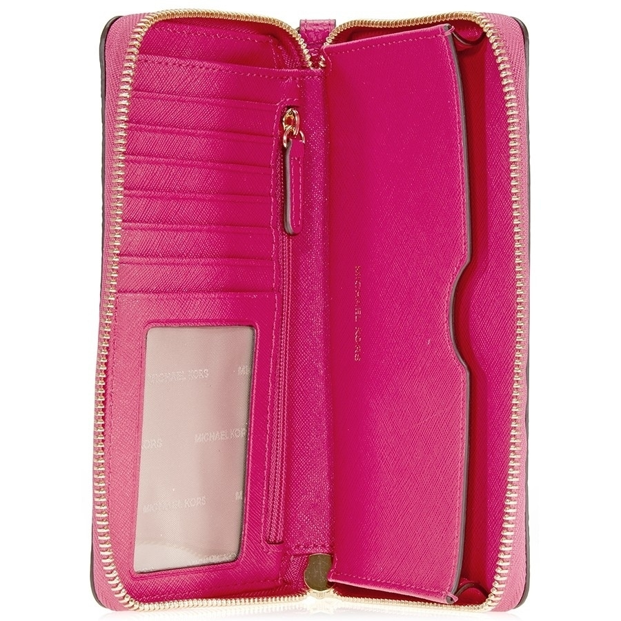 4e985969fbfc Shop MICHAEL Michael Kors Mercer Large Flat Multi Function Phone Case Ultra  Pink - Free Shipping Today - Overstock - 19435459