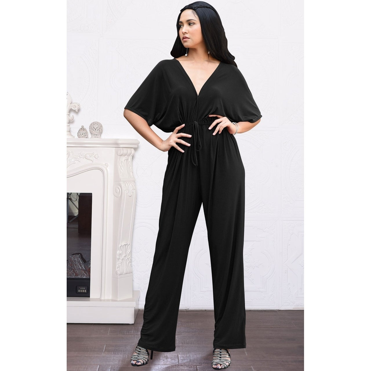 8a4415755e5 Shop KOH KOH Long Pant Suit Short Sleeve Casual V-neck Sexy Romper Jumpsuit  - Free Shipping Today - Overstock - 19436598