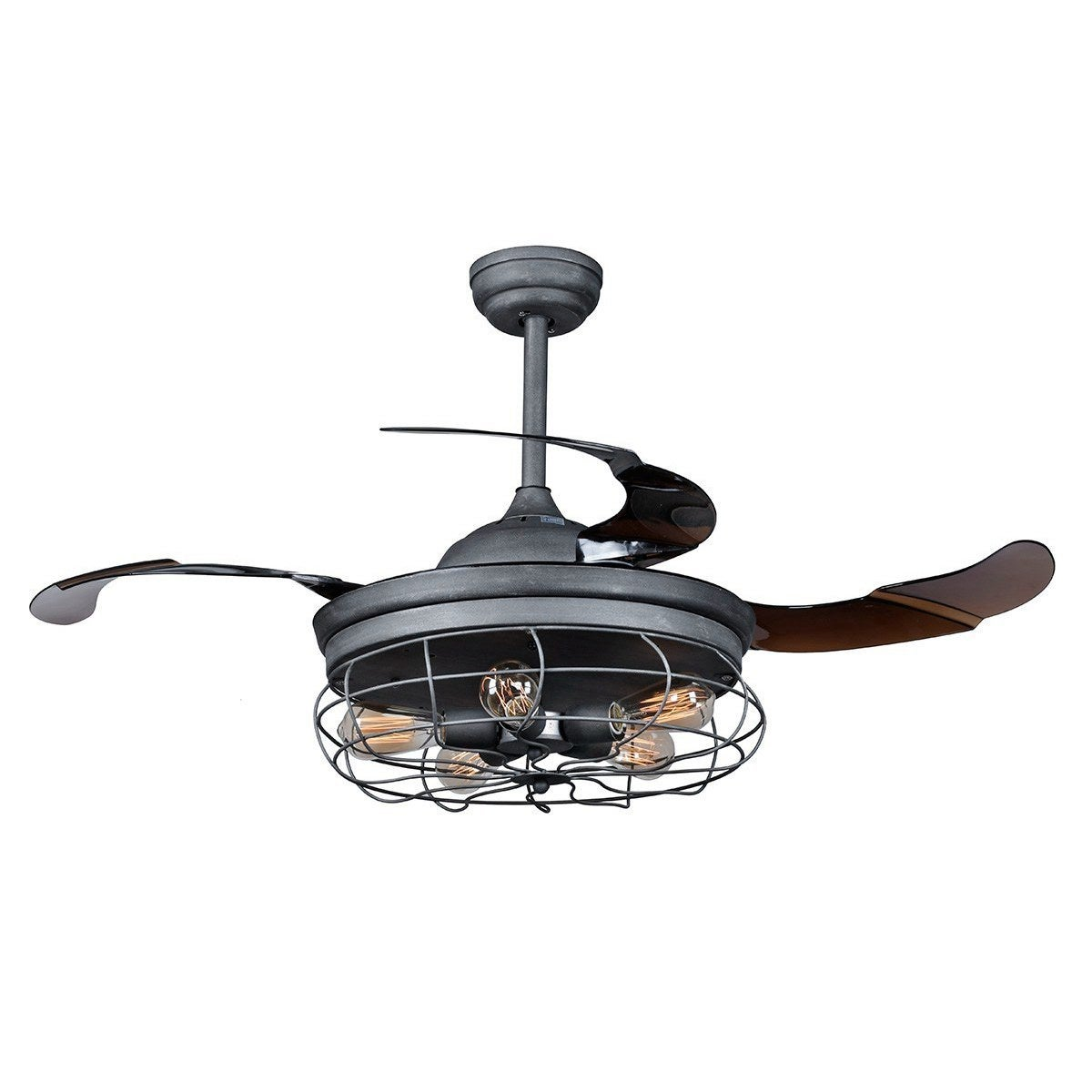 44 inch industrial foldable 4 blades iron ceiling fans with shade 44 inch industrial foldable 4 blades iron ceiling fans with shade free shipping today overstock 25440978 mozeypictures Images