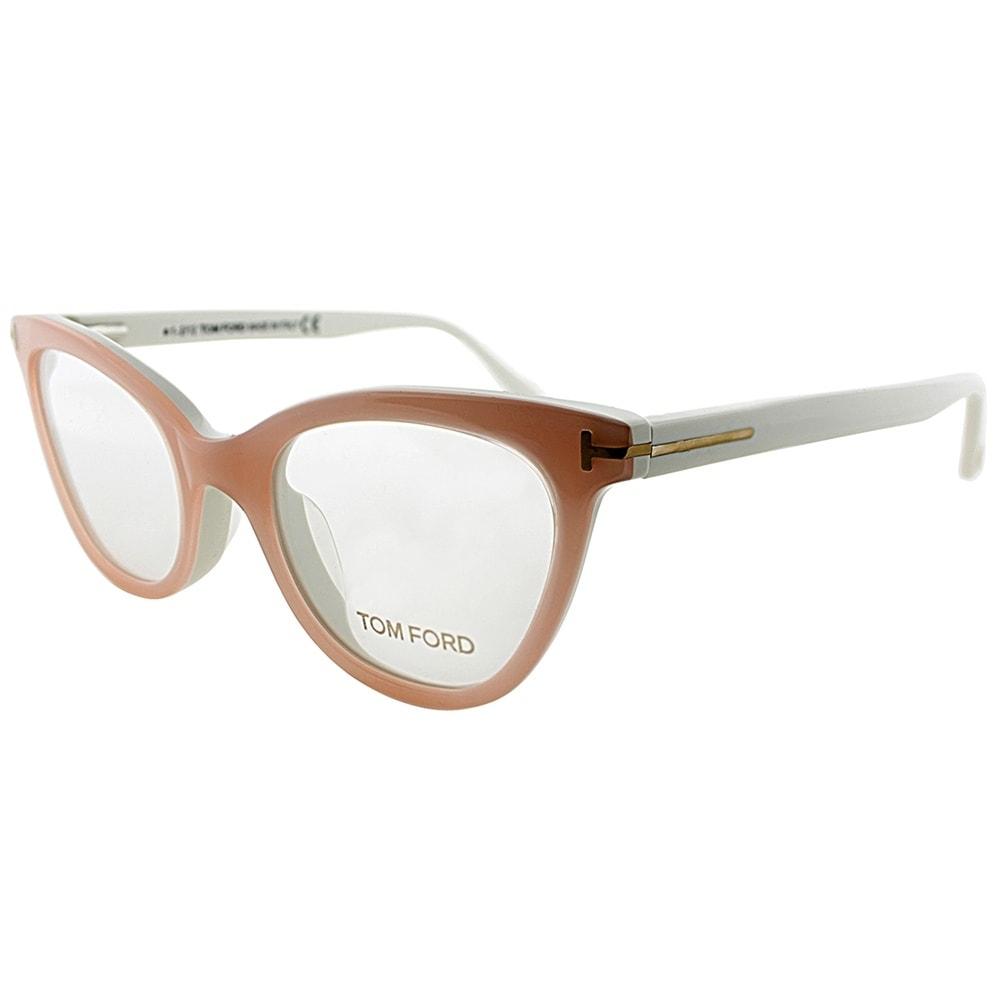 bc47dbdbfb9 Shop Tom Ford Cat-Eye FT 4271 072 Womens Pink Ivory Frame Eyeglasses ...