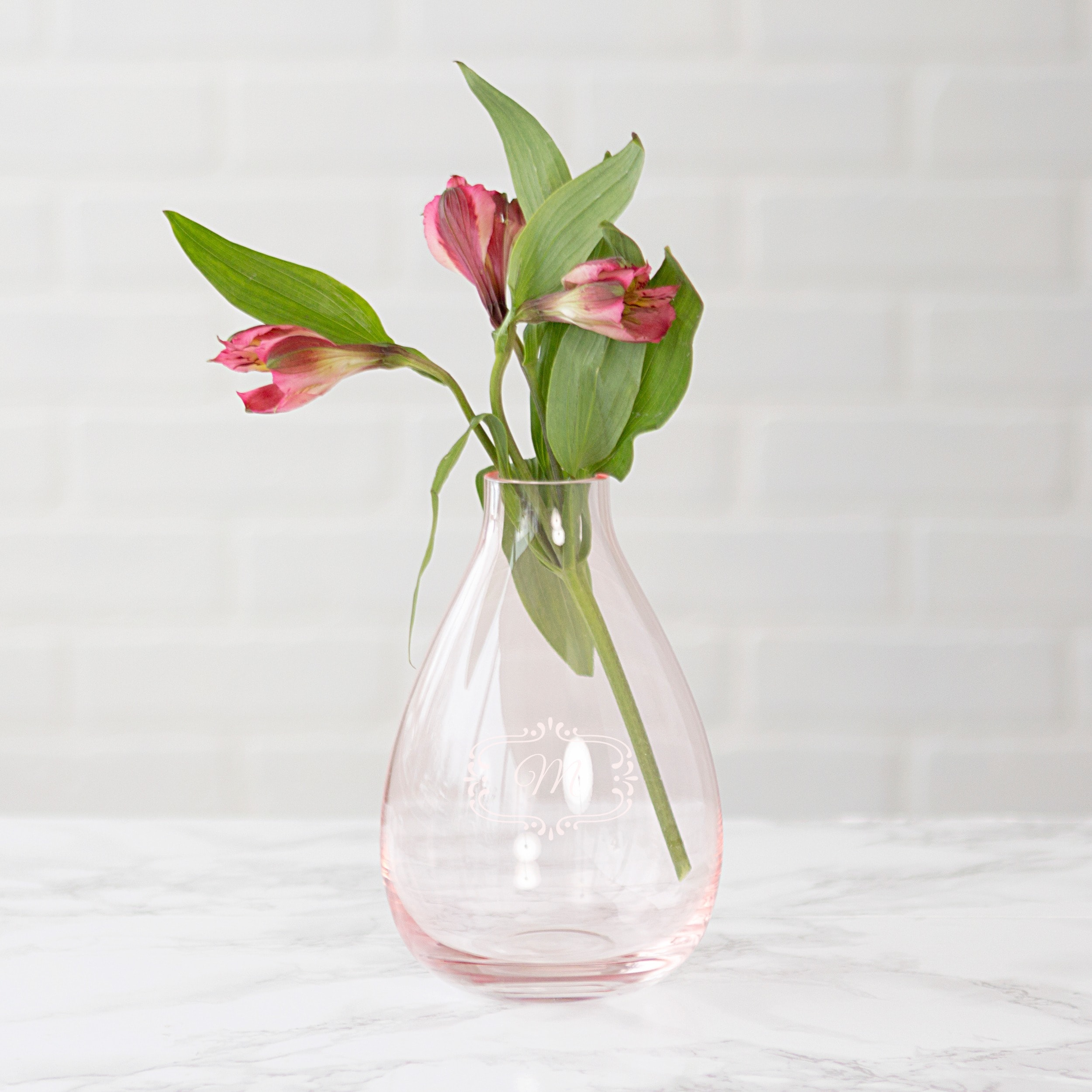 product personalized blown lucent heavy vase engraved crystal mouth merchant
