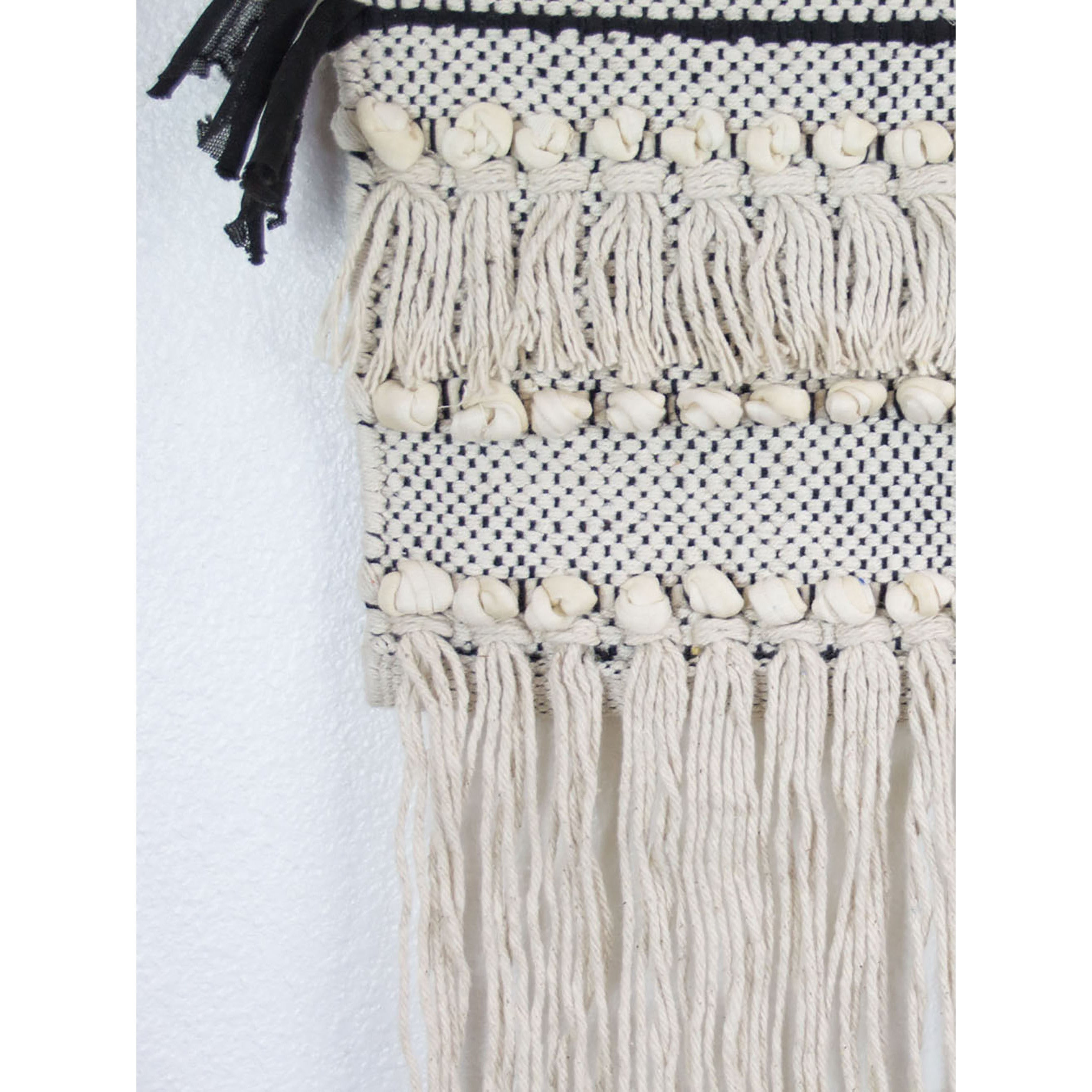 Shop Black And White Macrame Wall Hanging