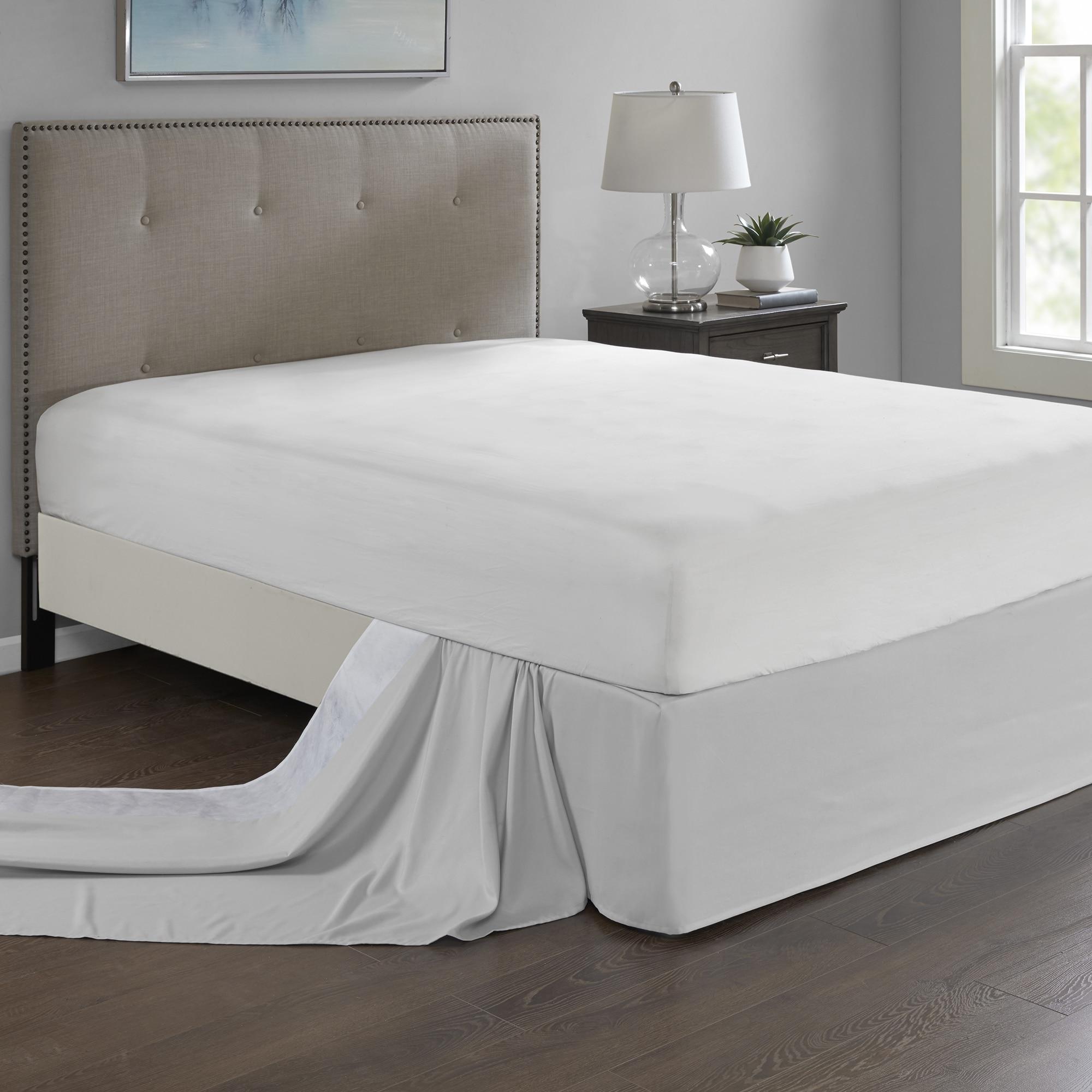 Shop Madison Park Simple Fit Wrap Around Adjustable 26 Inch Drop Bedskirt 5 Color Option
