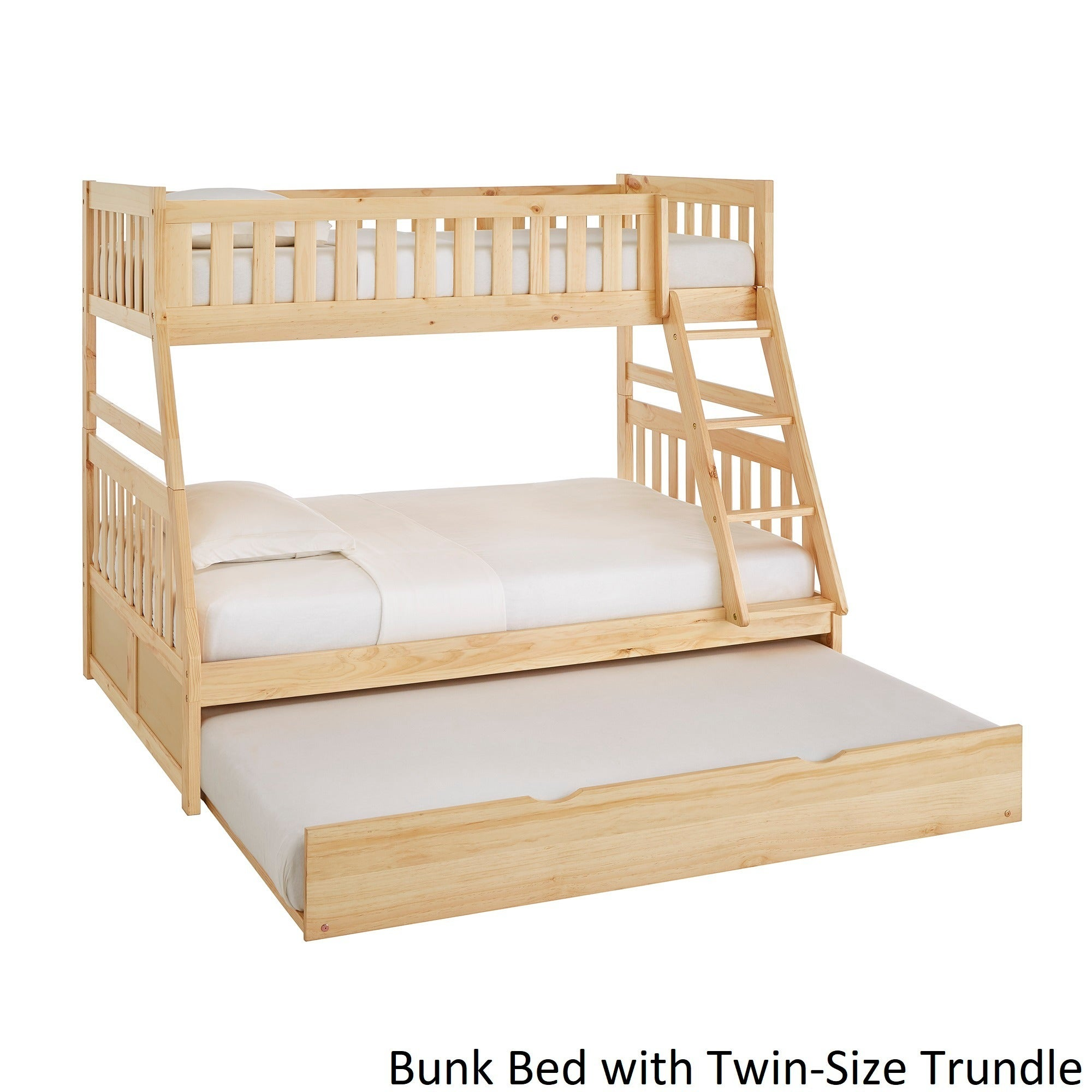 Hunter Twin over Full Natural Wood Bunk Bed by iNSPIRE Q Junior - Free  Shipping Today - Overstock.com - 25449324