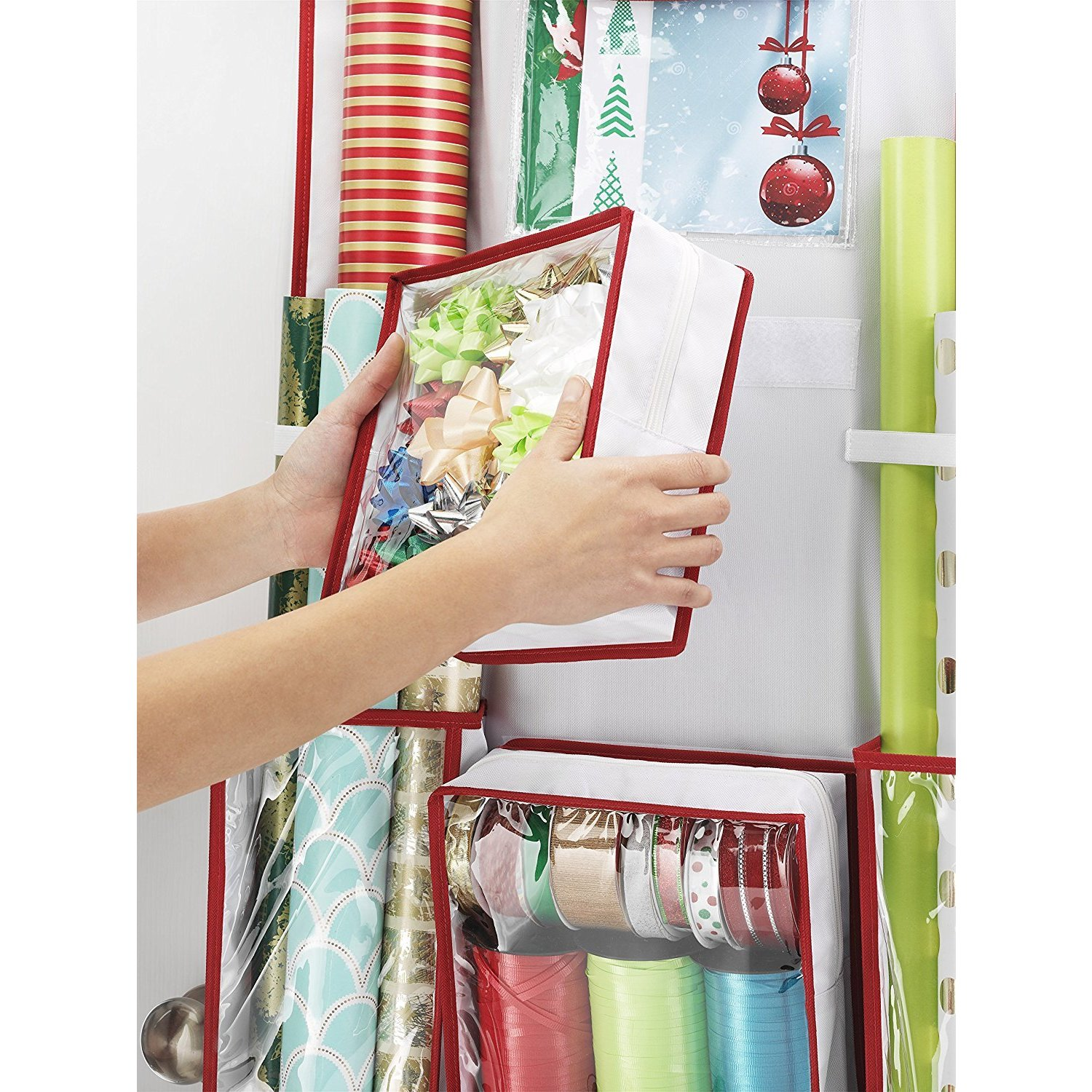 shop whitmor gift wrap organizer space saving and storage solution for wrapping paper ribbons craft s free shipping today overstockcom 19447745