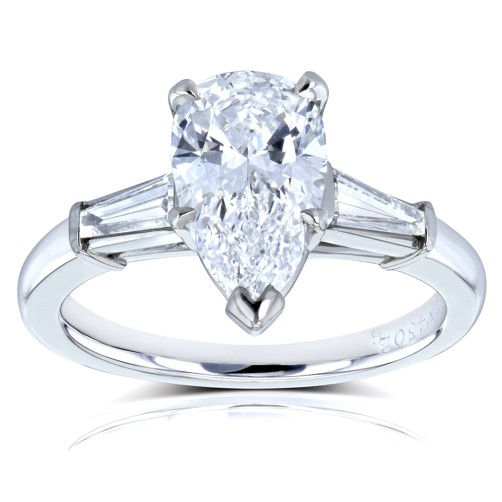 engagement certified solitaire carat sweetheart ring rings princess in diamond i si gia cut platinum