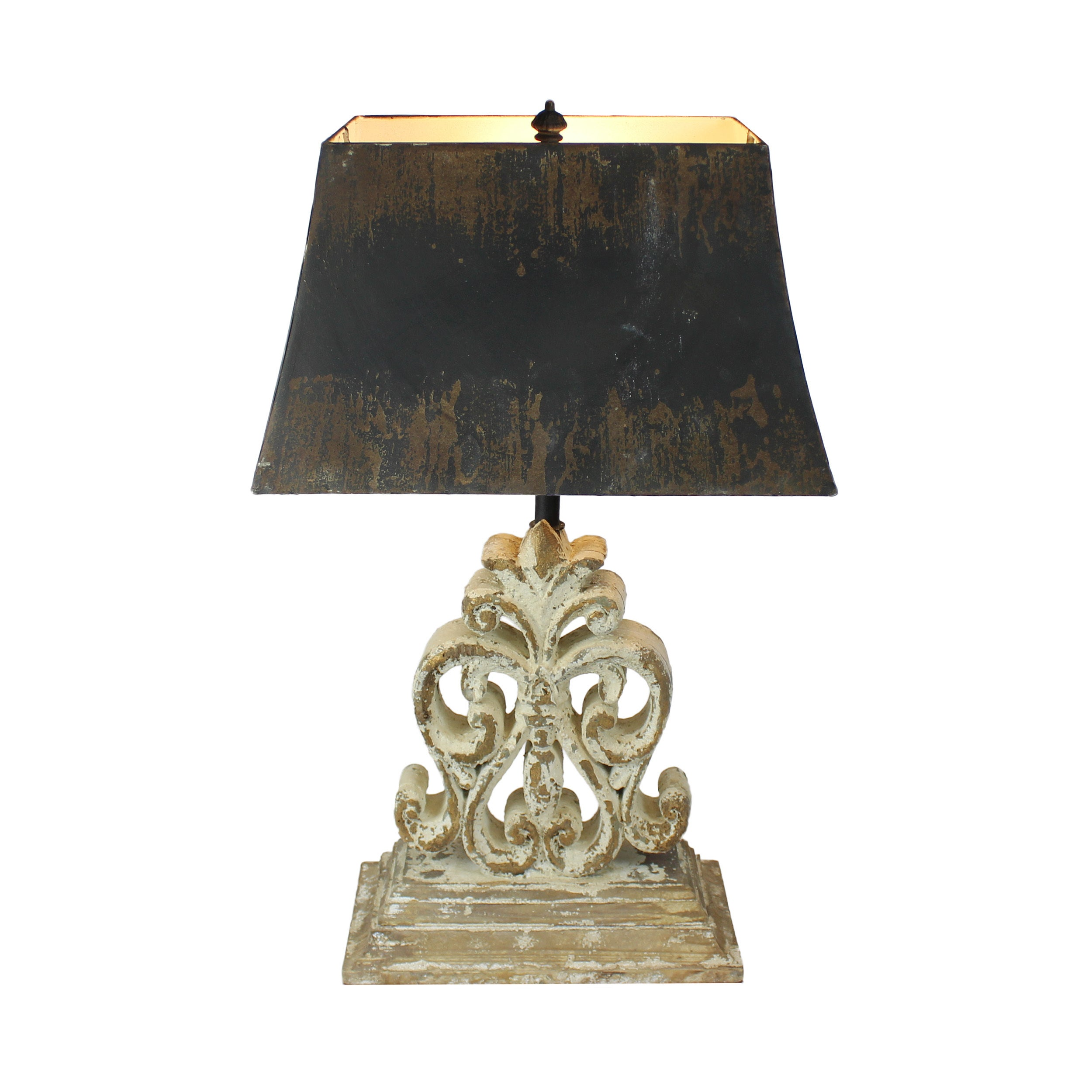 Urban Designs Vintage Heavily Distressed Fir Wood Table Lamp Free Shipping Today 19448766