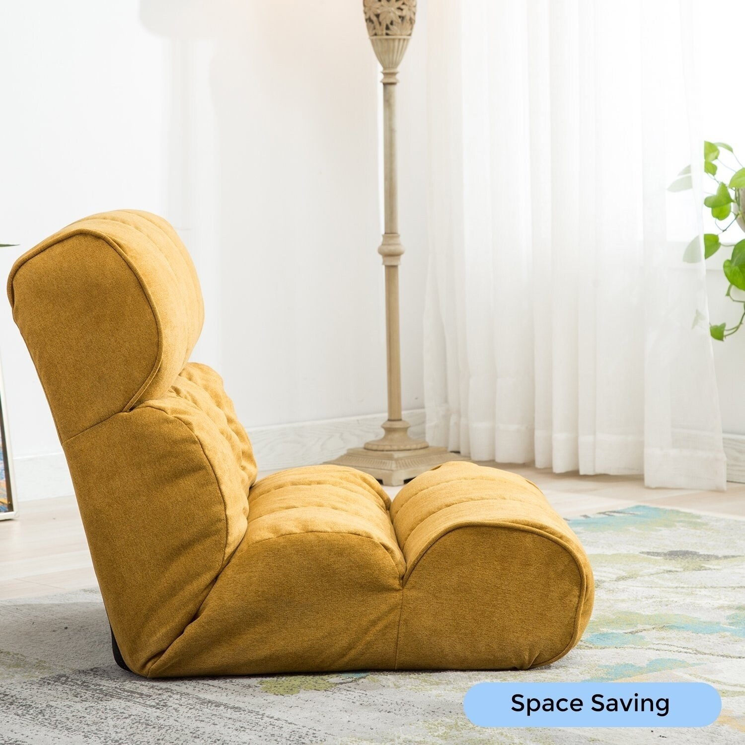 BONZY Floor Chair Folding Lazy Sofa U0026 Adjustable Gaming Chair With Memory  Foam Oversized Weight Capacity 300 Lbs   Orange   Free Shipping Today    Overstock ...