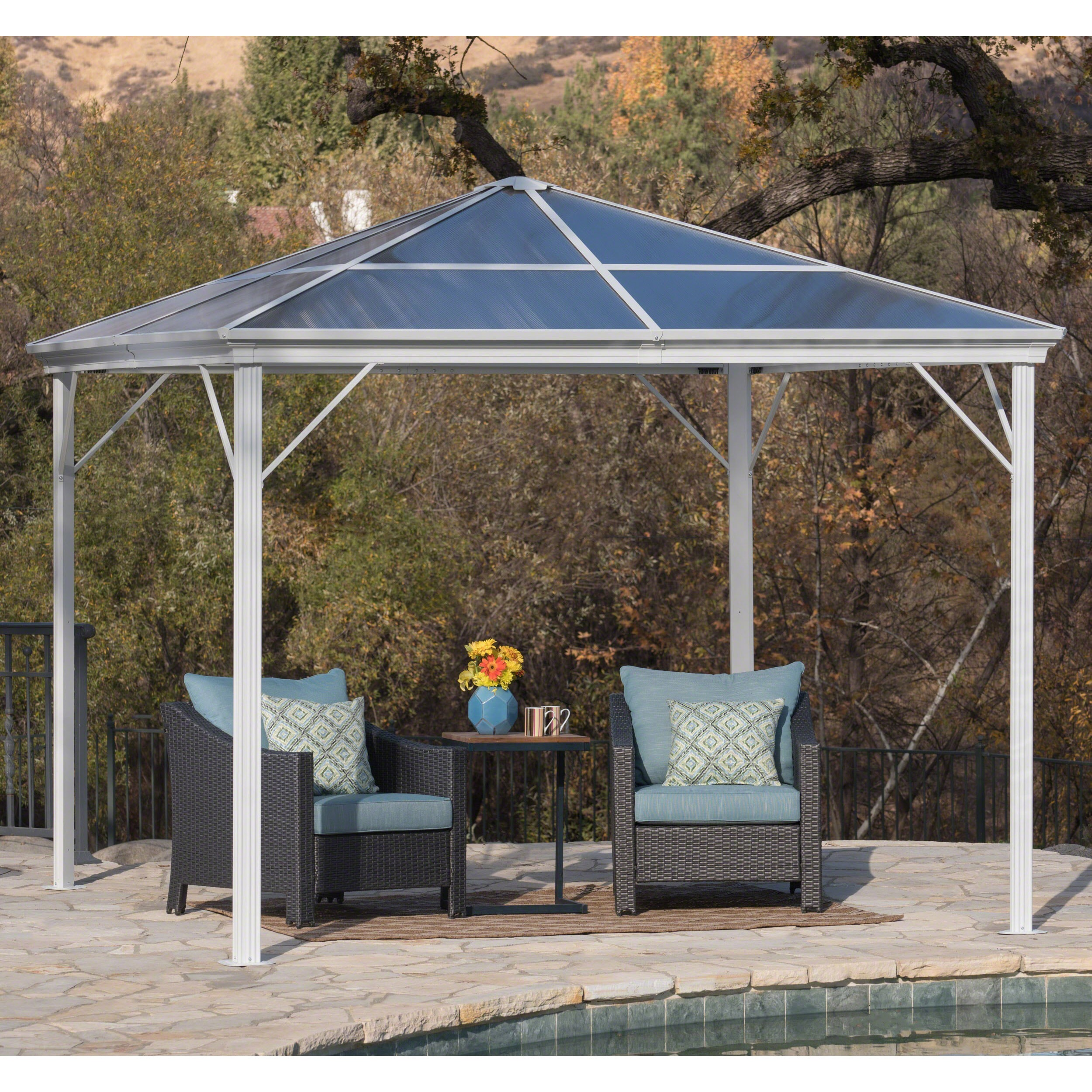 Shop Bailey Outdoor 10 ft. Aluminum Gazebo with Hardtop by ... on