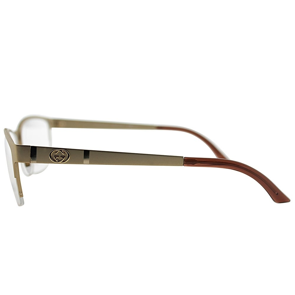 bb1d3b44f5d Shop Gucci Semi-Rimless GG 4236 82O Unisex Semi-Matte Gold Frame Eyeglasses  - Free Shipping Today - Overstock - 19455186