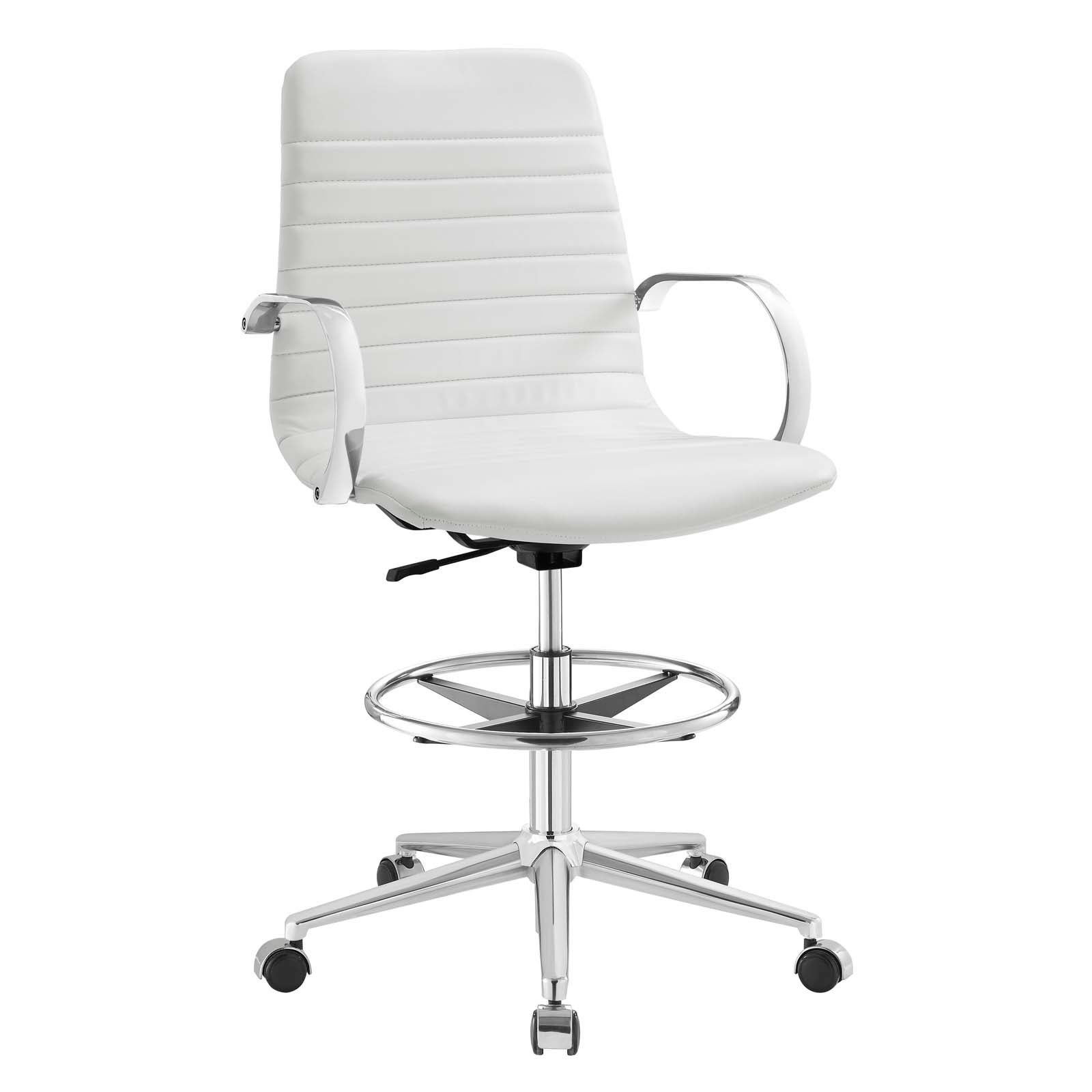 Superior Shop Groove Ribbed Back Drafting Chair   On Sale   Free Shipping Today    Overstock.com   19455241