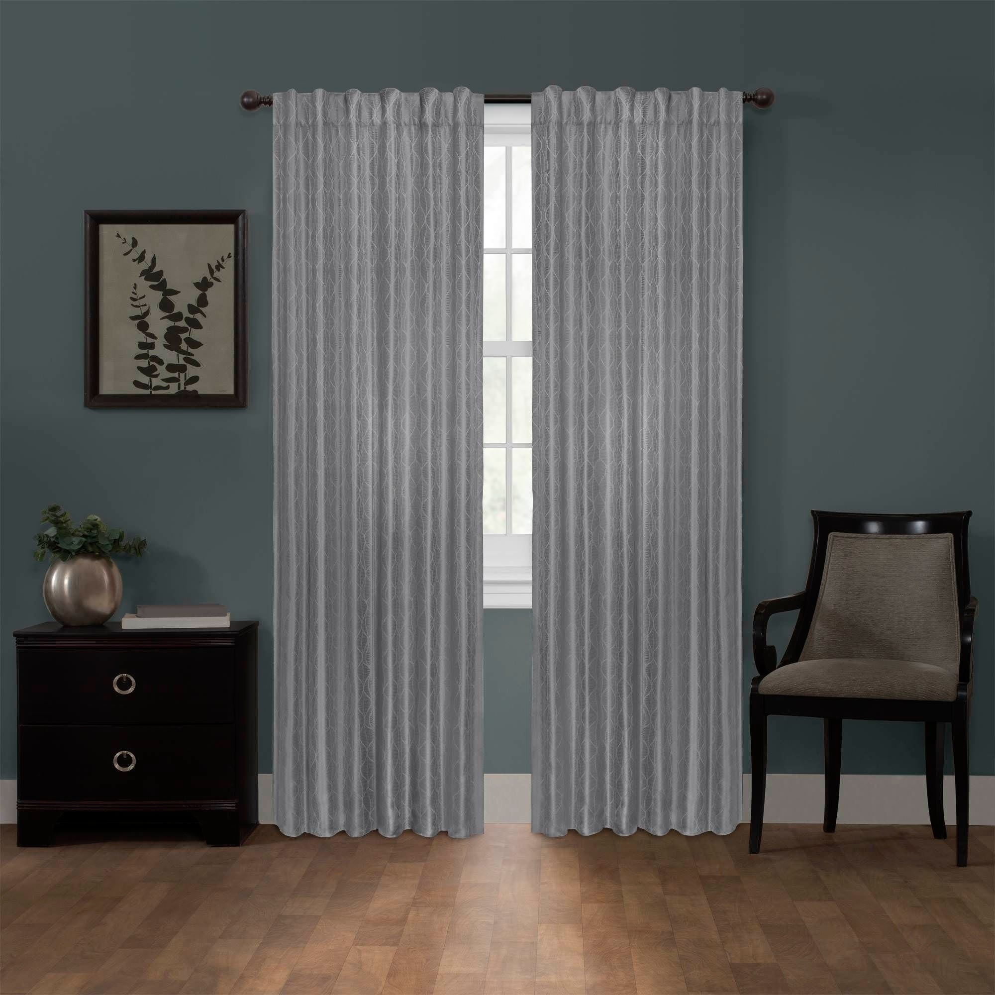 shop ainsley blackout platinum smart curtains window curtain panel 50 x 84 50 x 84 on sale free shipping today overstockcom 19456426 - Smart Curtains