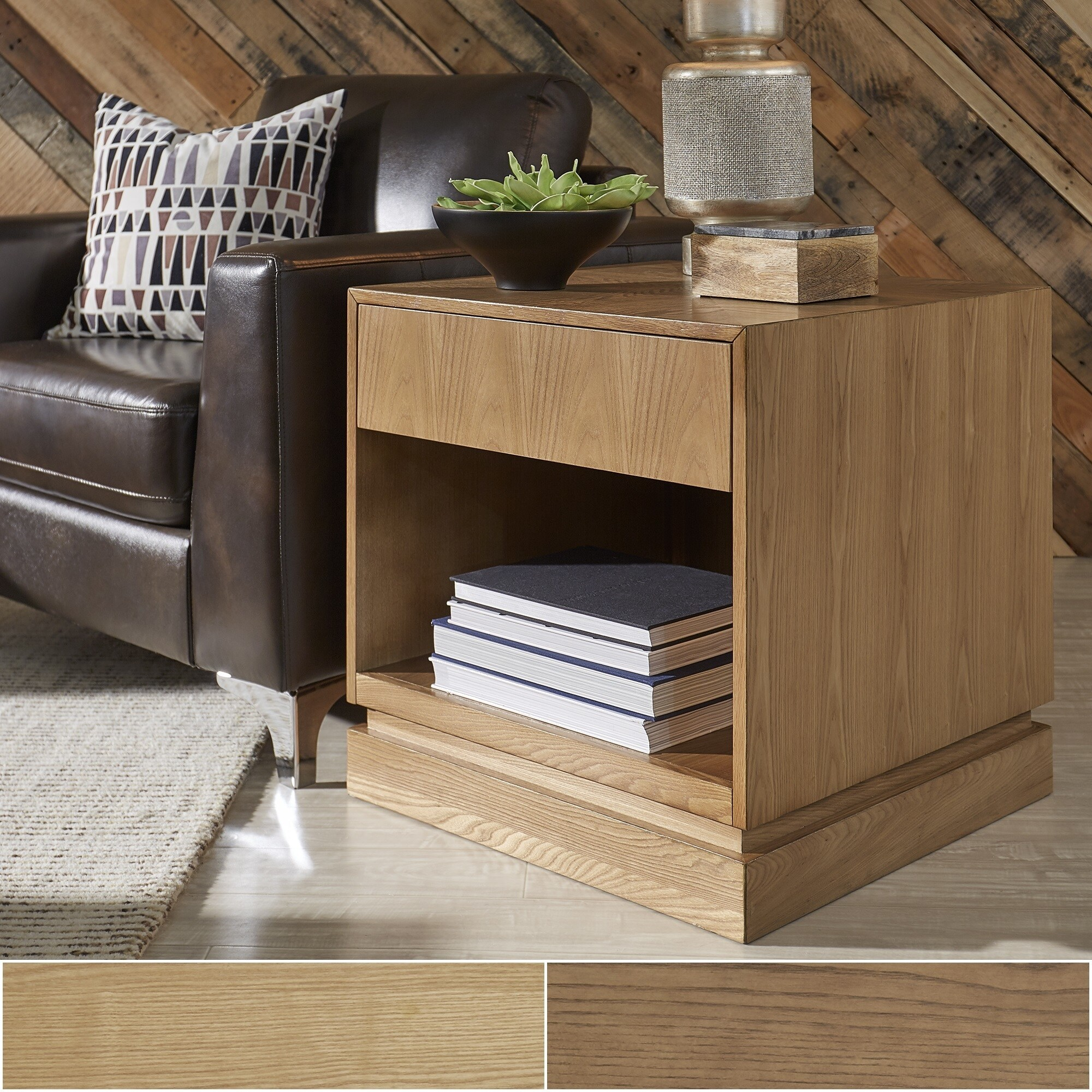 Hadley 1-Drawer Mid-Century Wood End Table by iNSPIRE Q Modern - Free  Shipping Today - Overstock.com - 25457519