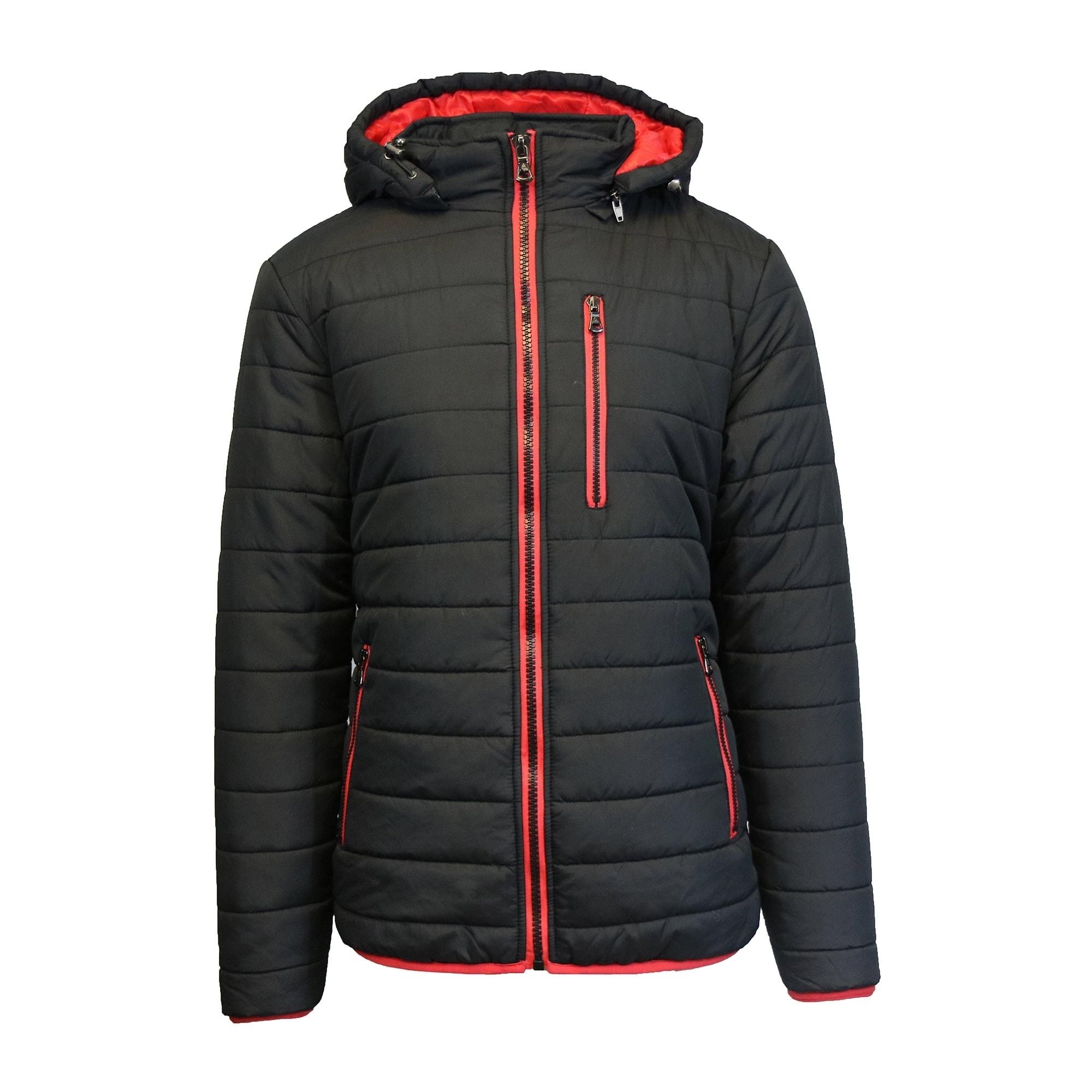 66d397d94 Spire By Galaxy Men's Heavyweight Puffer Jacket with Detachable Hood