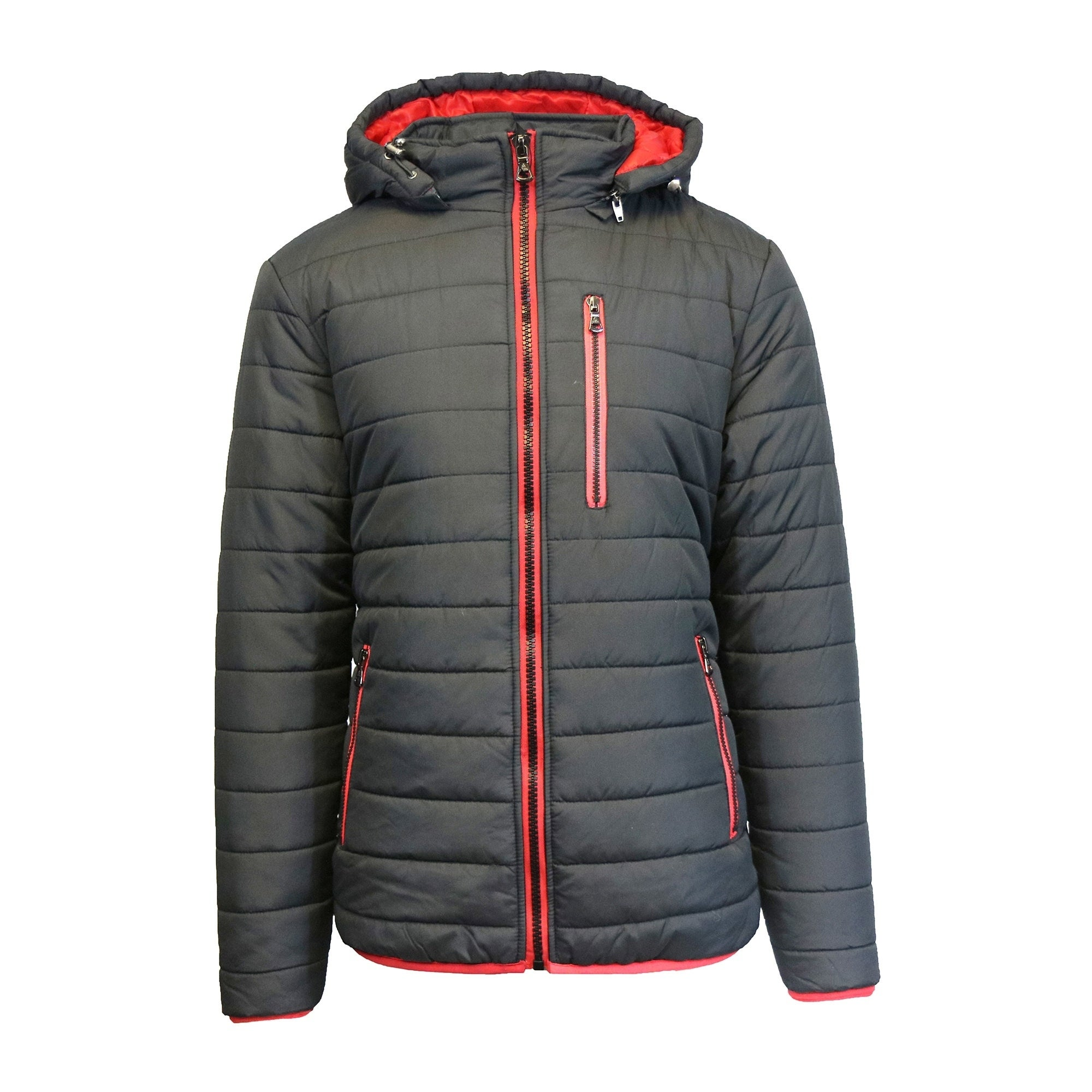 Shop Spire By Galaxy Men s Heavyweight Puffer Jacket with Detachable Hood -  On Sale - Free Shipping Today - Overstock - 19457181 7755451bd