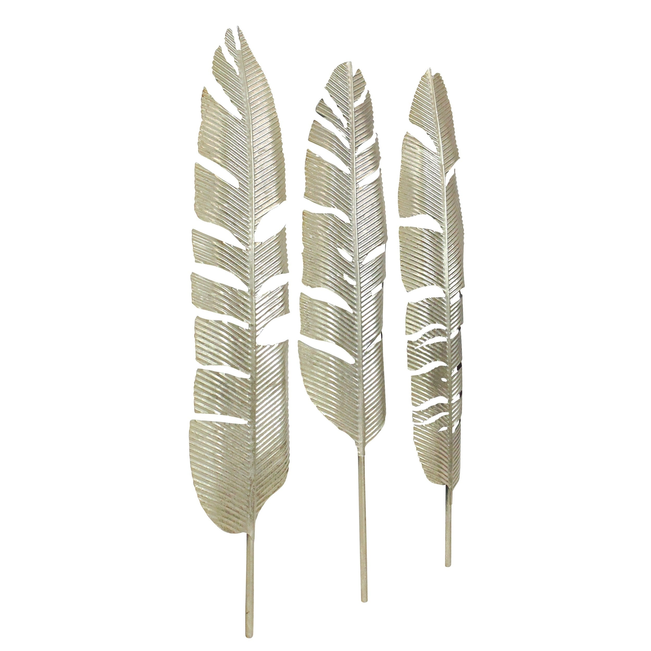 1095980ebf Shop Roxbury Gold Leaf Wall Decor (Set of 3) - Free Shipping On Orders Over  $45 - Overstock - 19468124