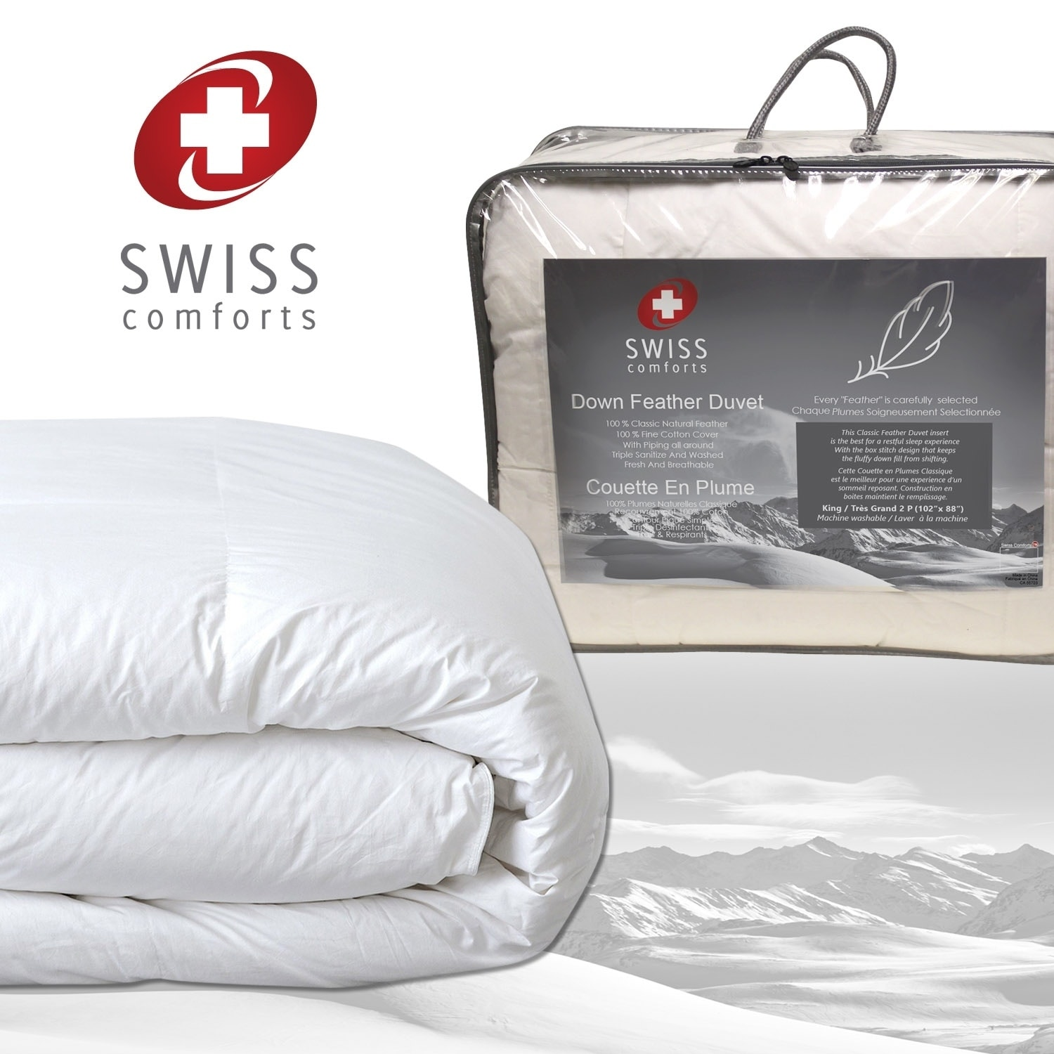 Swiss Comforts Down Feather Comforter Free Shipping Today 25467338