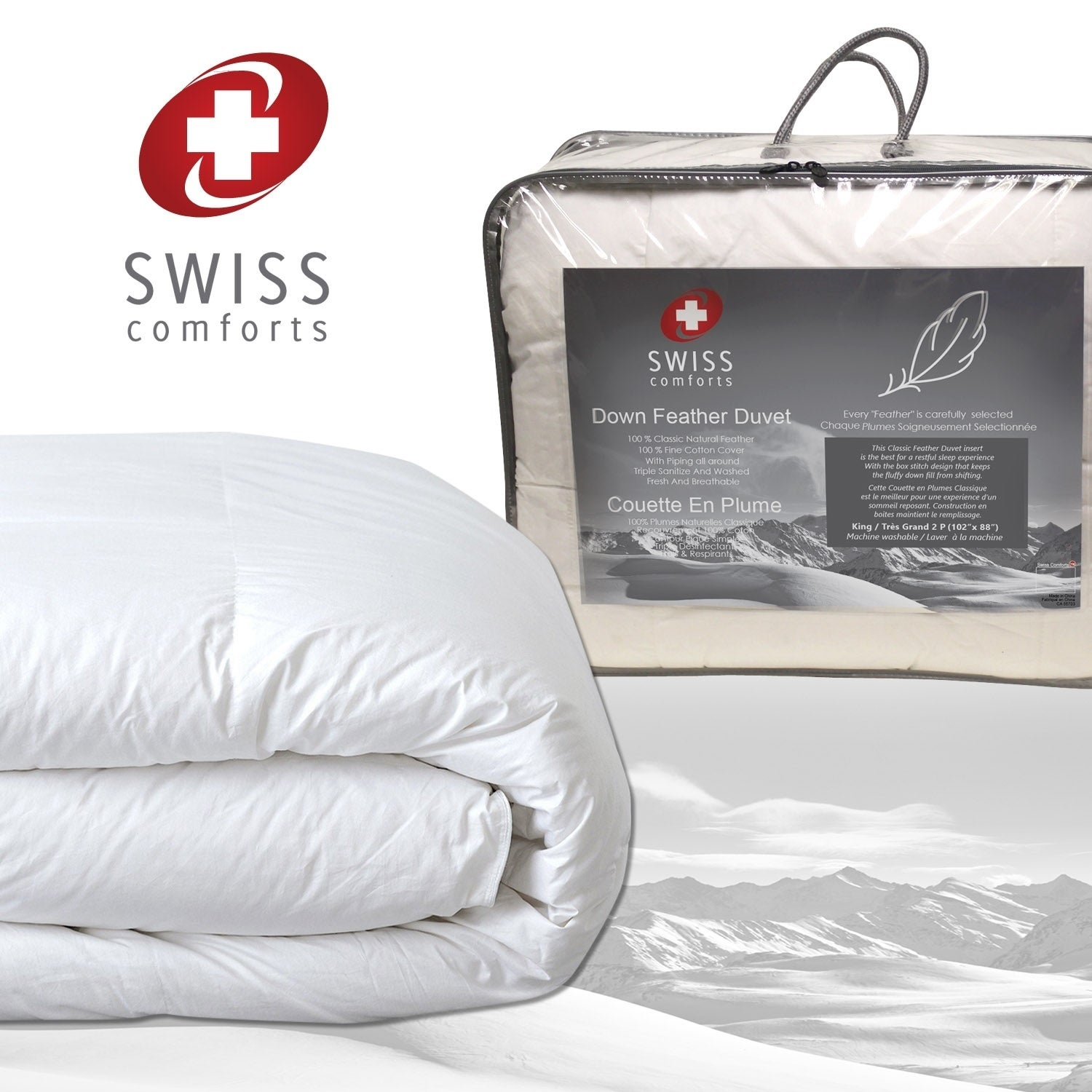 com alternative stitched queen corner pcr hypoallergenic box helpful tabs comforters in plush kids reversible goose insert rated comforter best white with amazon quilted reviews down set fill duvet customer