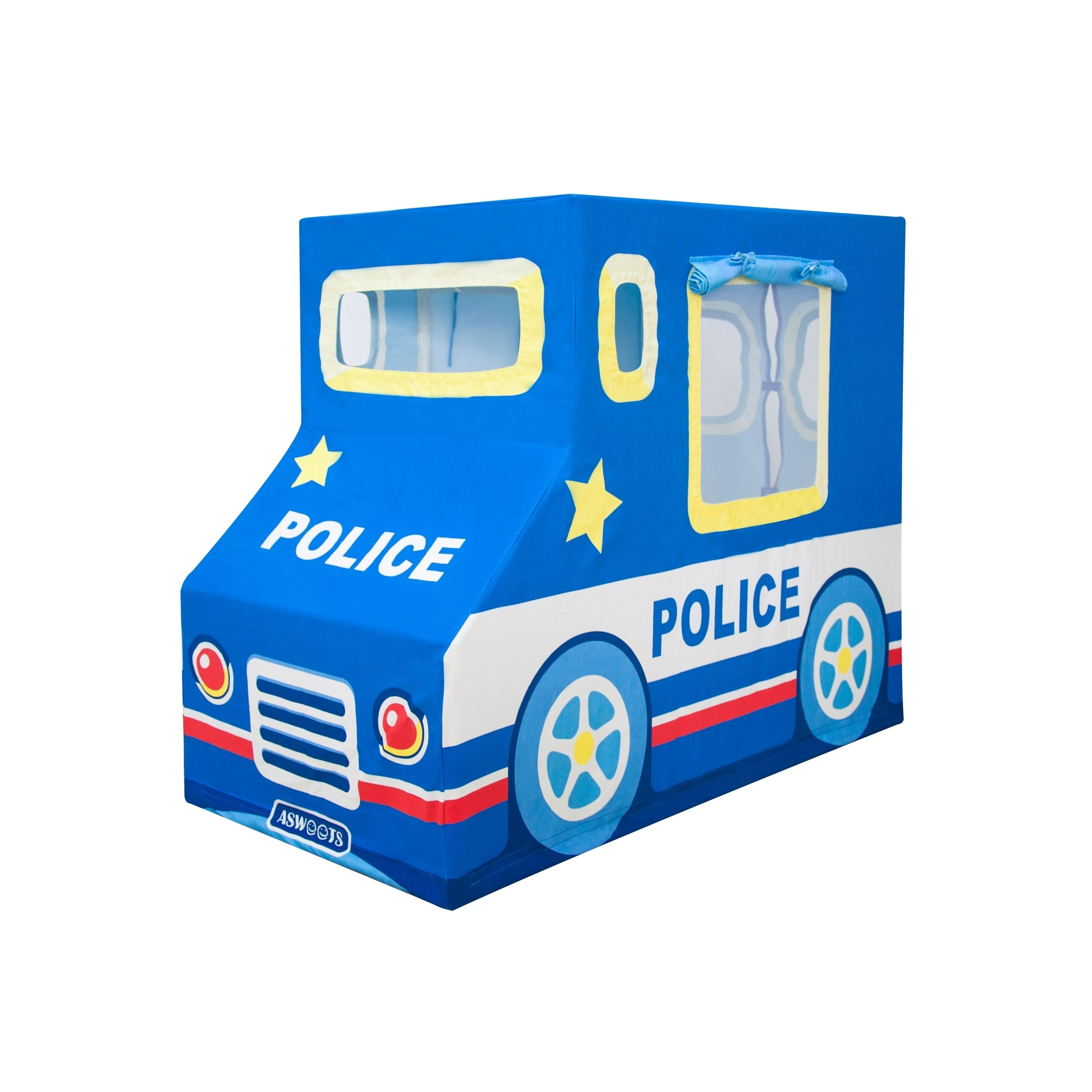 Shop Asweets Police Car Indoor Canvas Playhouse Play Tent For Kids