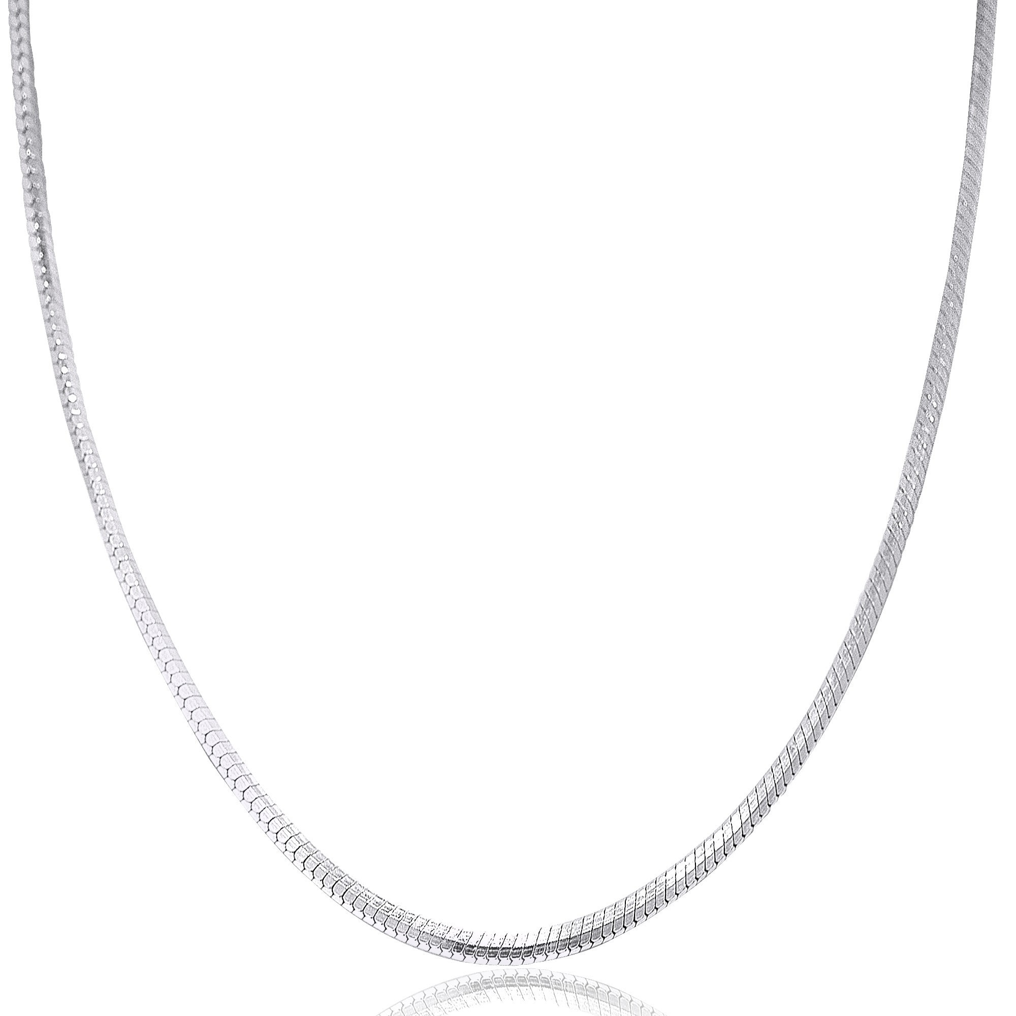 b43f5b1fa95 Shop Pori Jewelers 925 Sterling Silver High Polished 0.9 MM Square Snake  020 Chain Necklace - On Sale - Free Shipping On Orders Over $45 - Overstock  - ...
