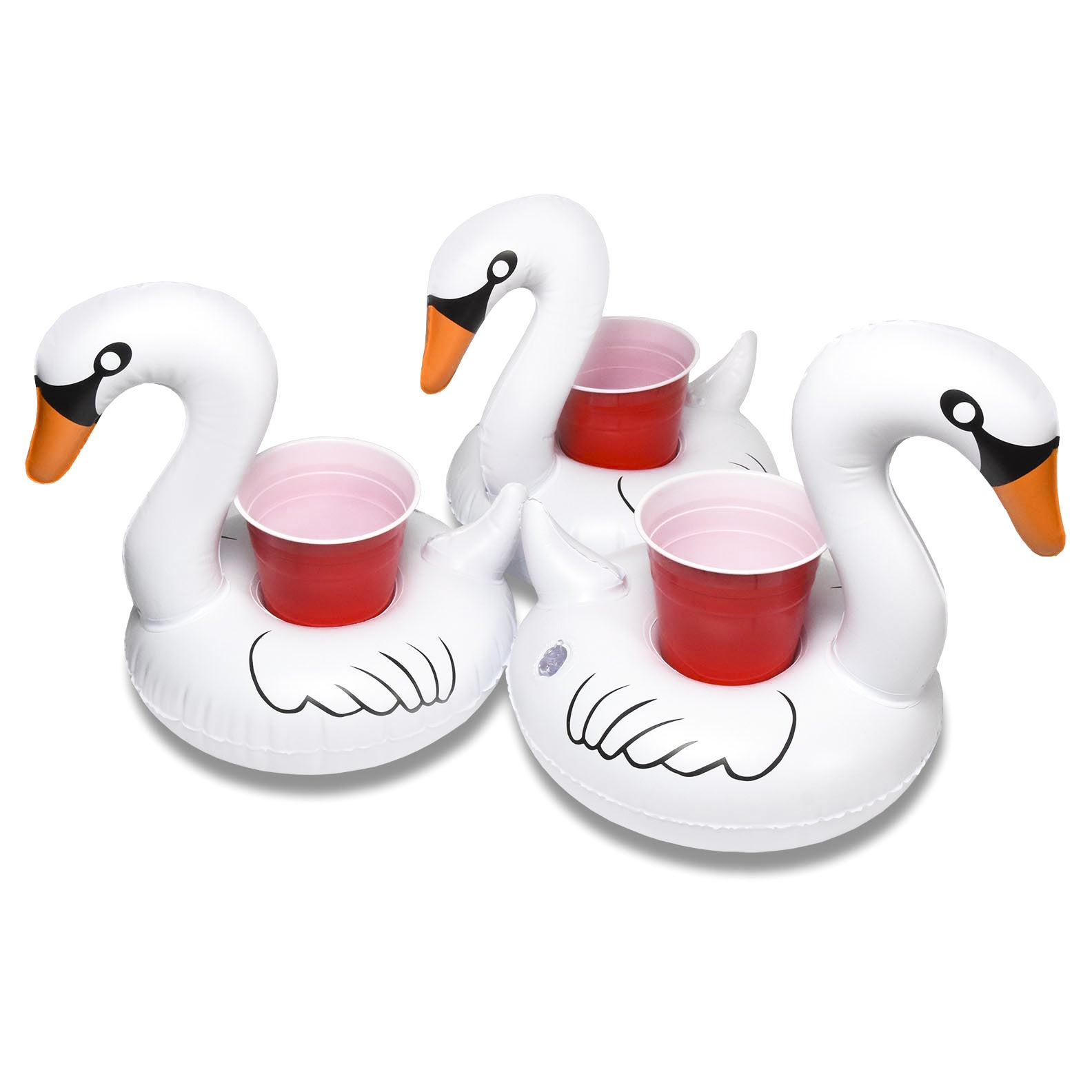 Shop Gofloats Inflatable Swan Drink Holder 3 Pack Float Your