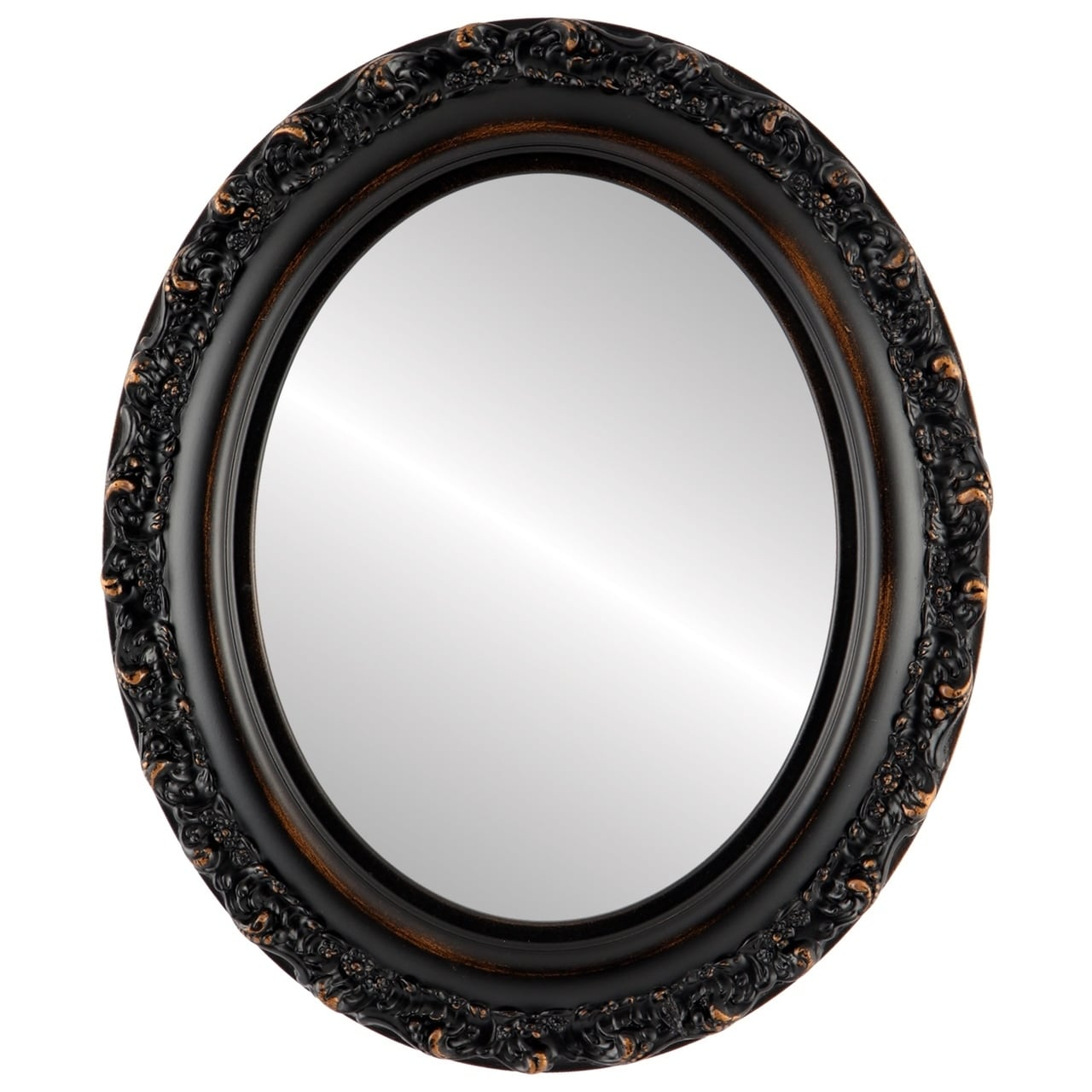 Venice Framed Oval Mirror In Rubbed Bronze Antique Free Shipping Today 19471224