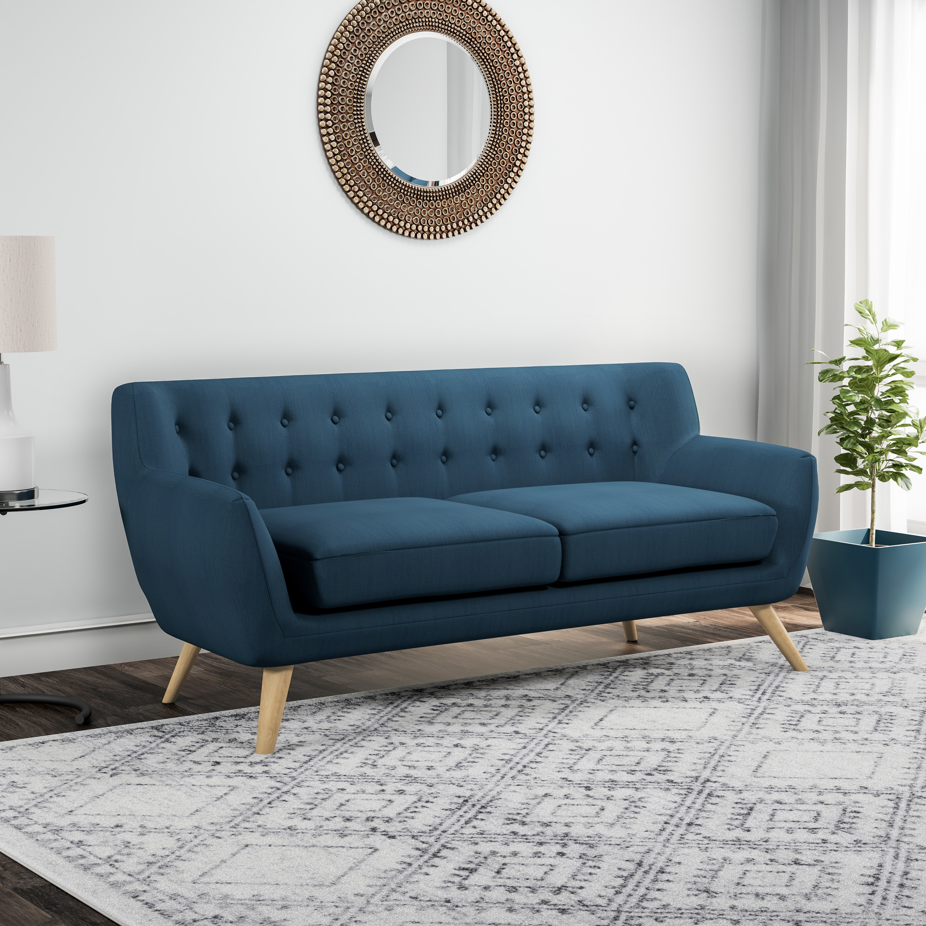 Carson carrington brandbu button tufted modern sofa