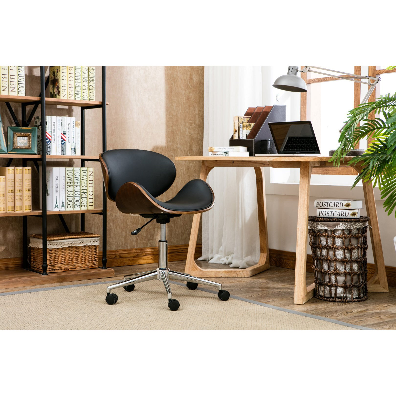 Carson Carrington Malmo Black Wood Office Chair On Free Shipping Today 19473327