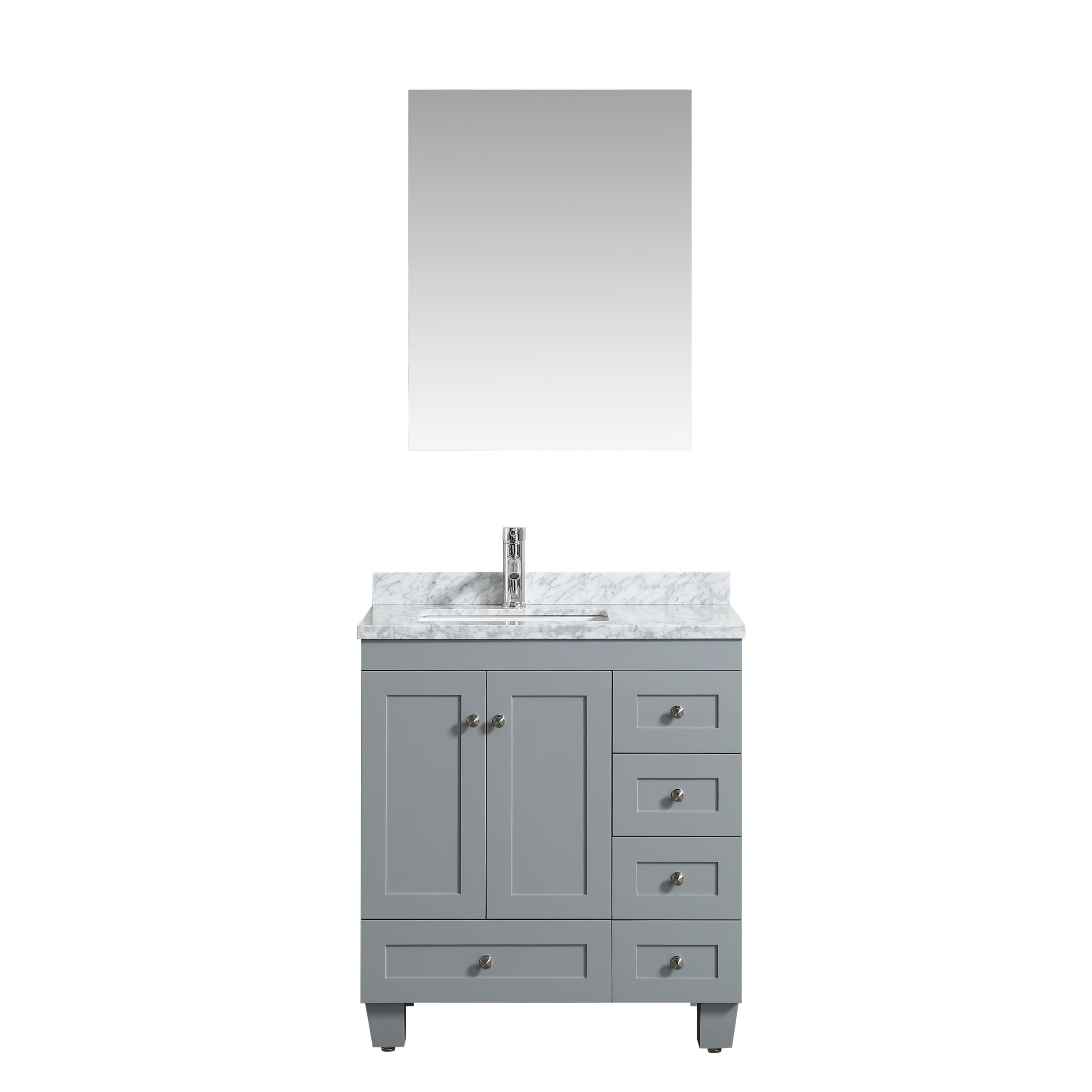 Eviva Hy 30 X 18 Grey Vanity On Free Shipping Today 19475159