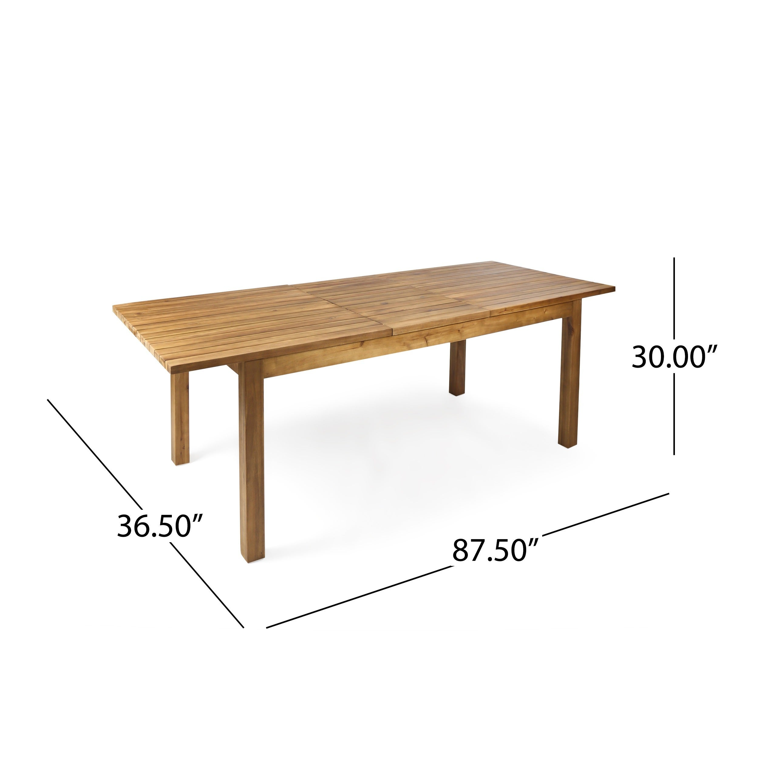 Shop Wilson Outdoor Rectangle Expandable Acacia Wood Dining Table By  Christopher Knight Home   Free Shipping Today   Overstock.com   19482169