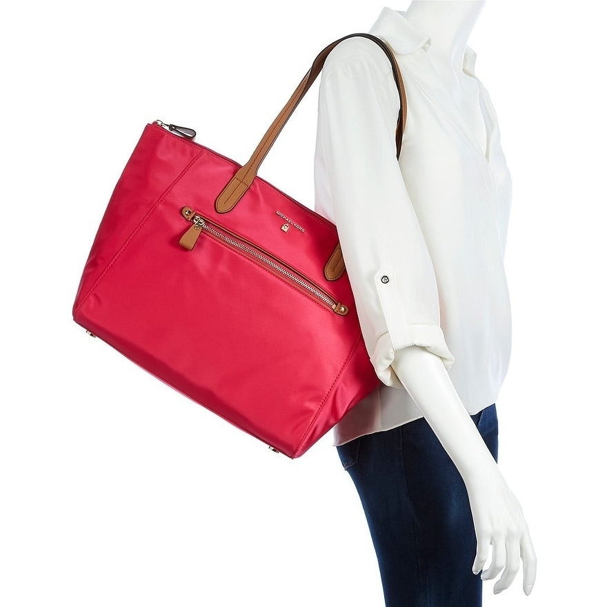 79cfe2dafaed Shop MICHAEL Michael Kors Kelsey Large Top-Zip Tote Ultra Pink - Ships To  Canada - Overstock - 19482791