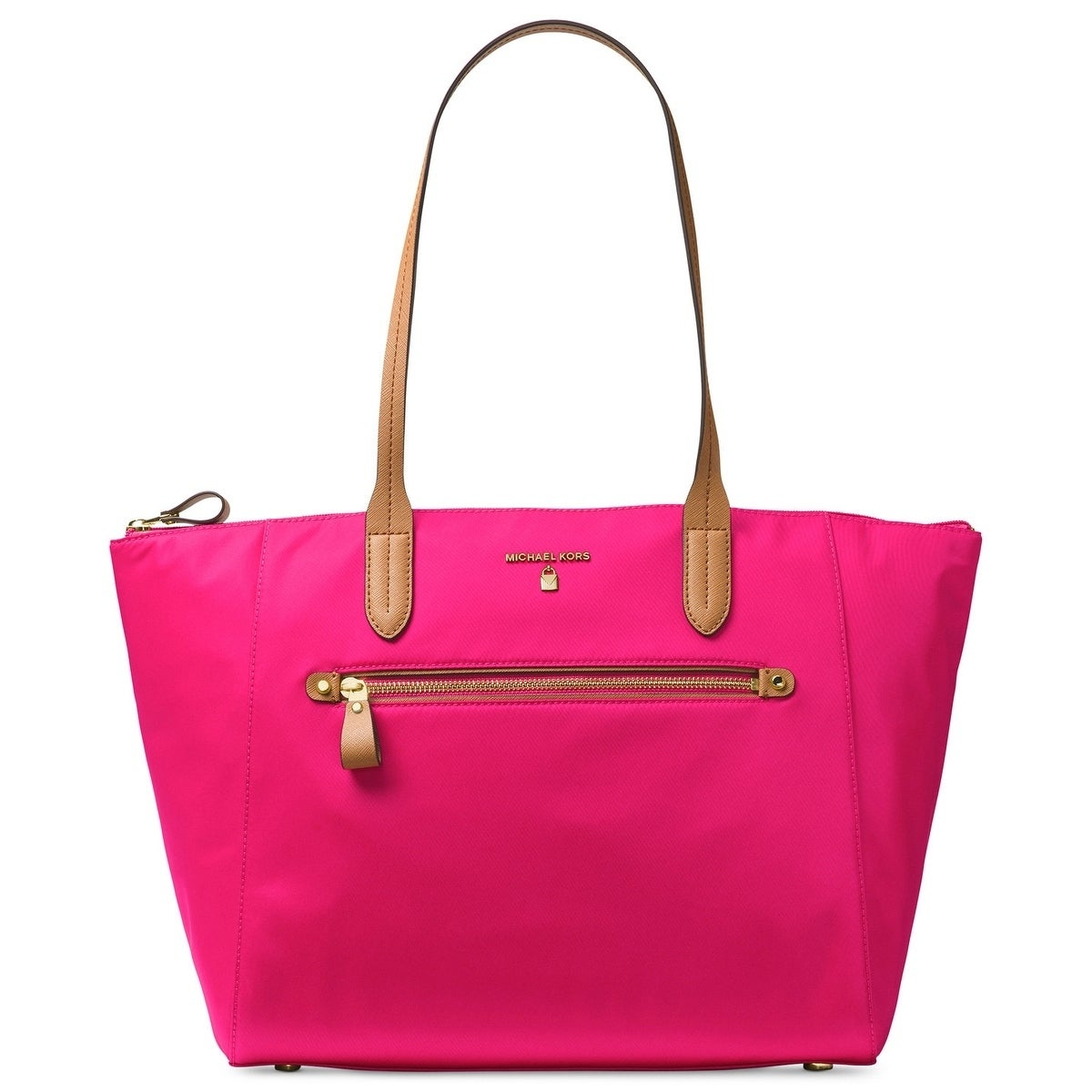 cd7a56662f25 Shop MICHAEL Michael Kors Kelsey Large Top-Zip Tote Ultra Pink ...