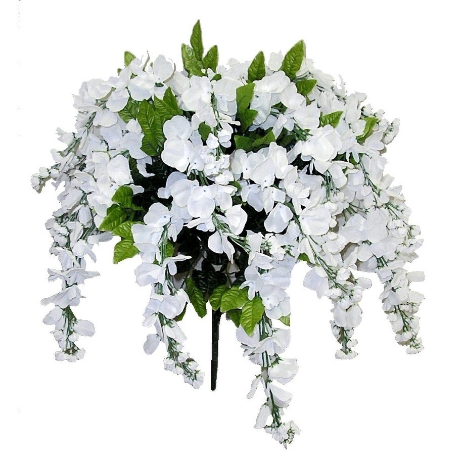 Shop 15 Stems Wisteria Long Hanging Bush Flowers Free Shipping On