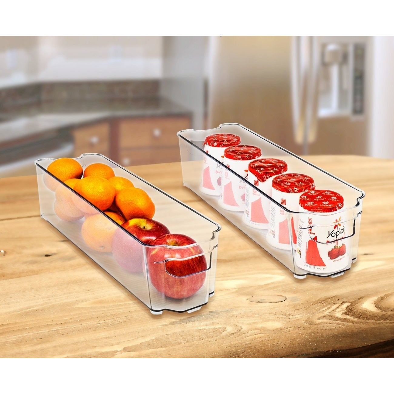 Shop Sorbus Fridge Bins And Freezer Stackable Storage Containers (6 Pack  Set)   Free Shipping On Orders Over $45   Overstock.com   19484292